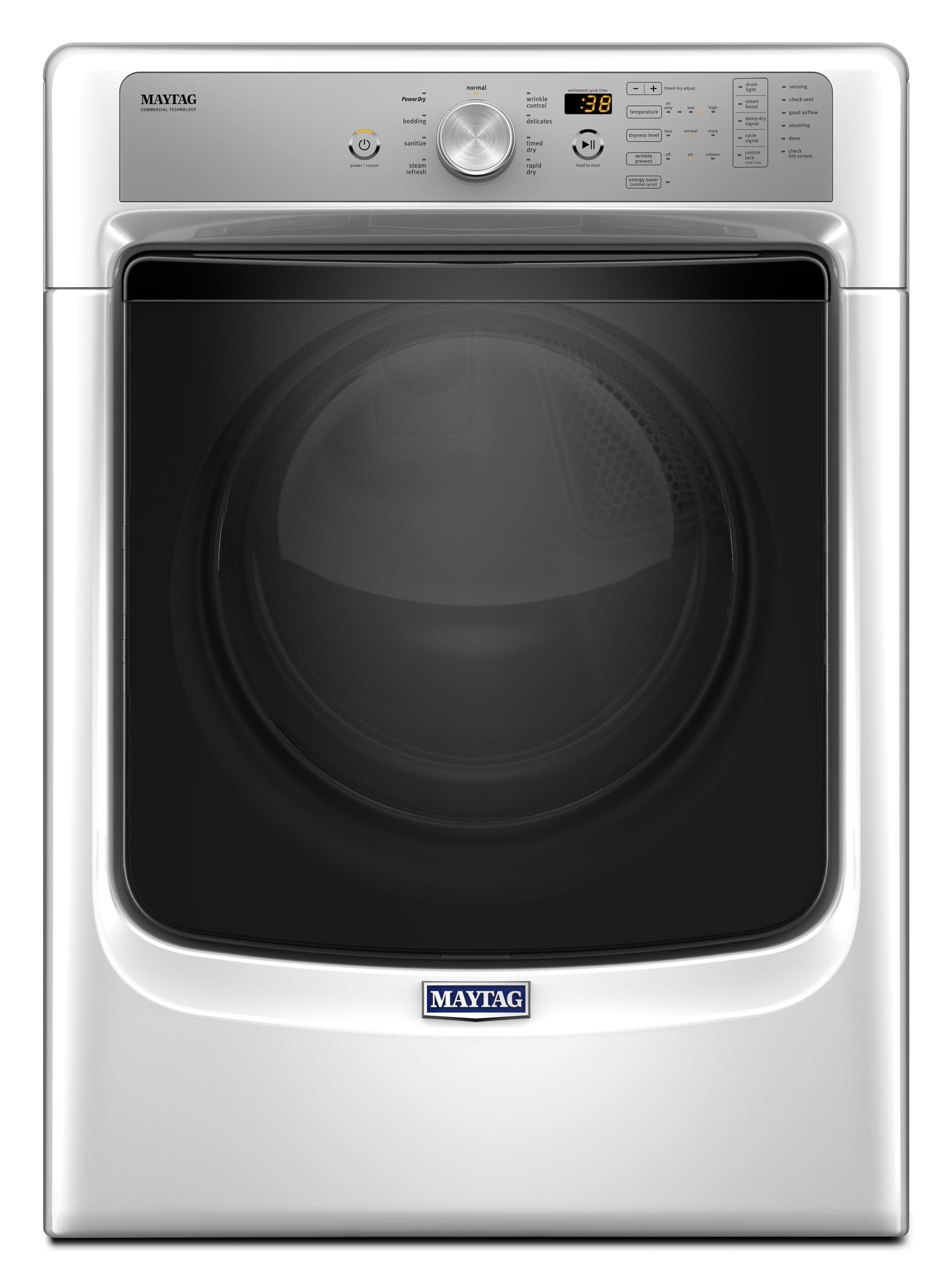 MED5500FW-7-4-cu-ft-Electric-Dryer-w-Sanitize-Cycle-and-PowerDry-System-White