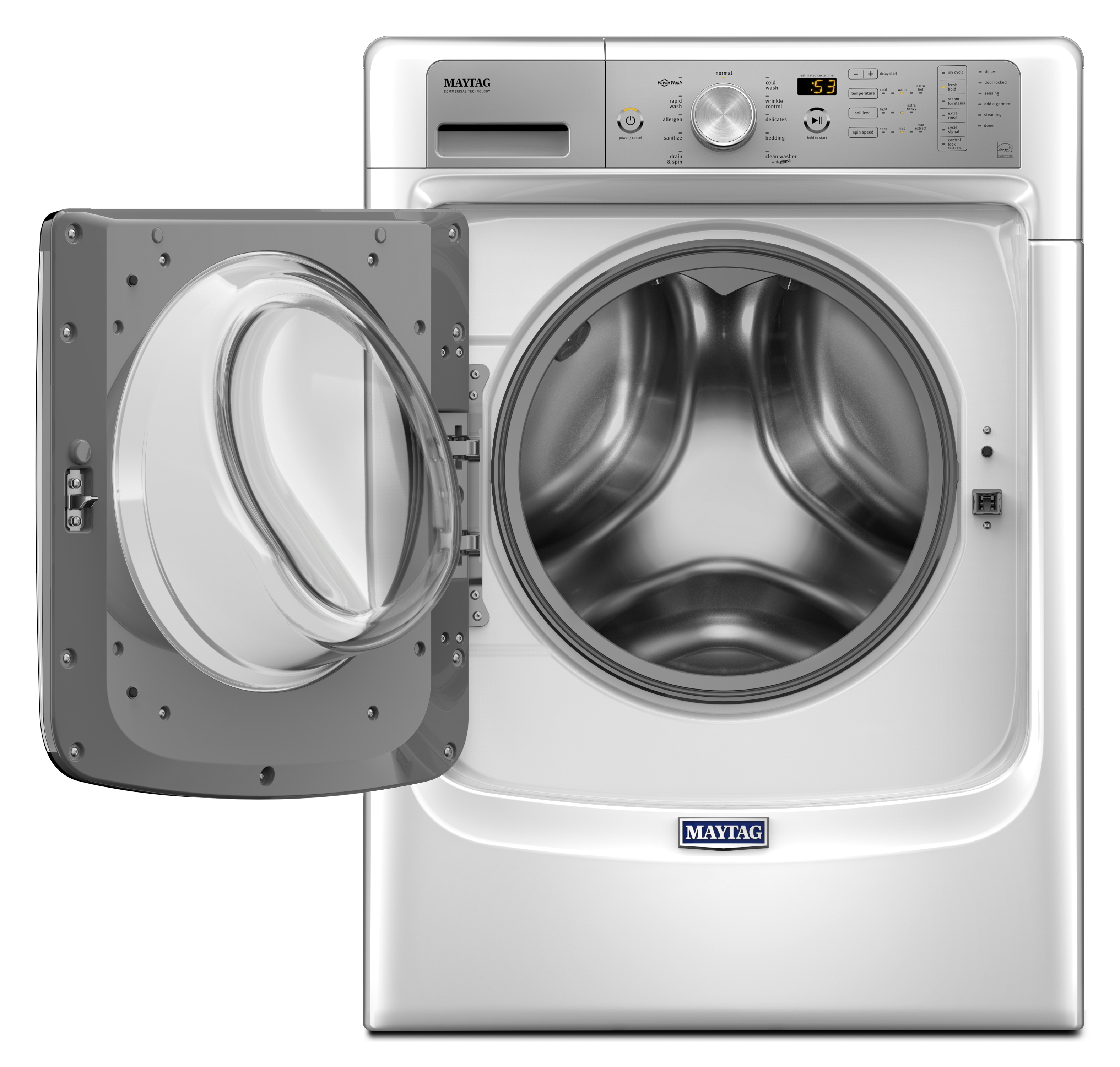 Maytag MHW5500FW 4.5 cu. ft. Front Load Washer with Fresh Hold® Option and PowerWash® System - White