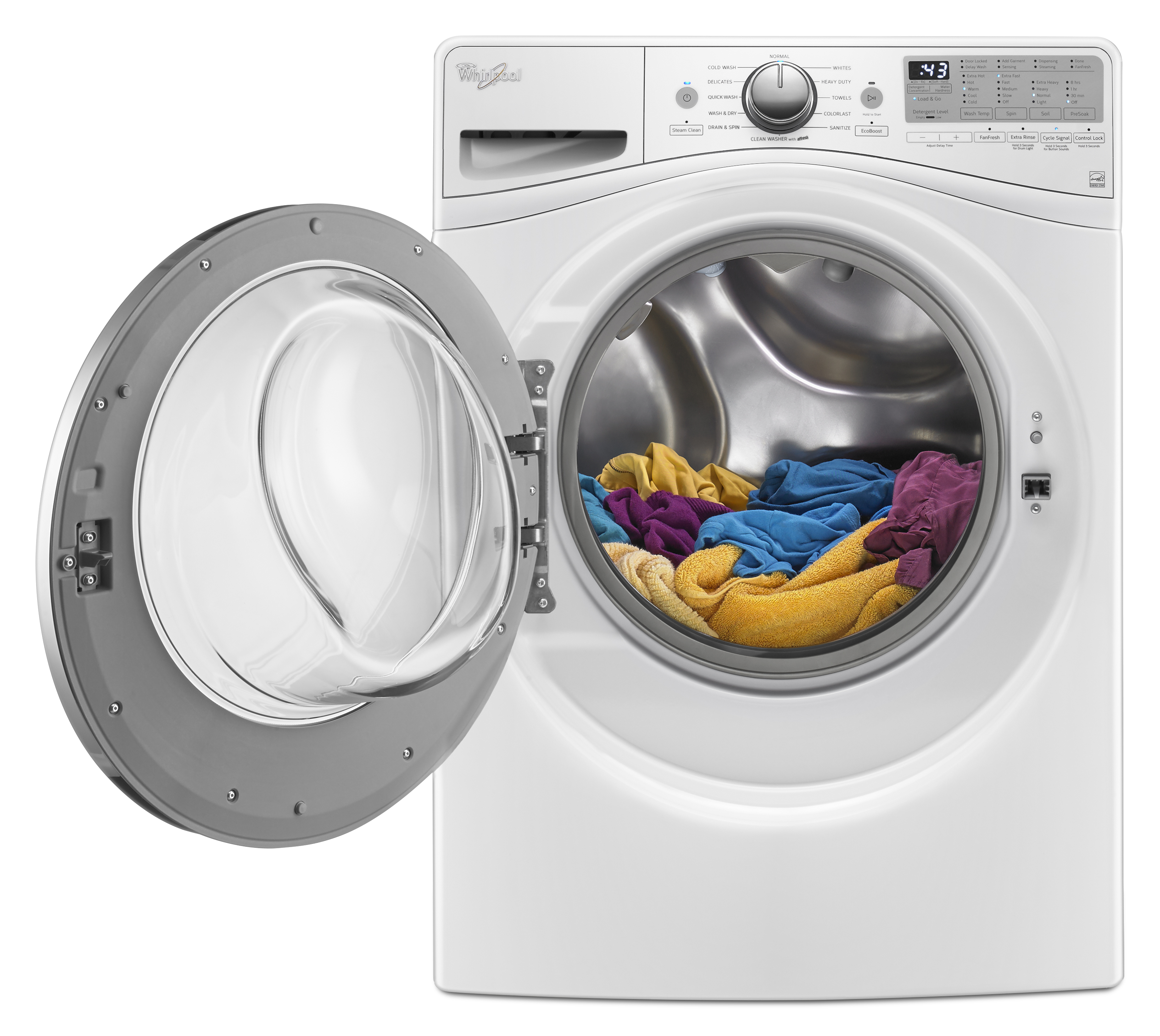 Whirlpool WFW92HEFW 4.5 cu. ft. Front Load Washer w/ Load & Go™ Bulk Dispenser - White