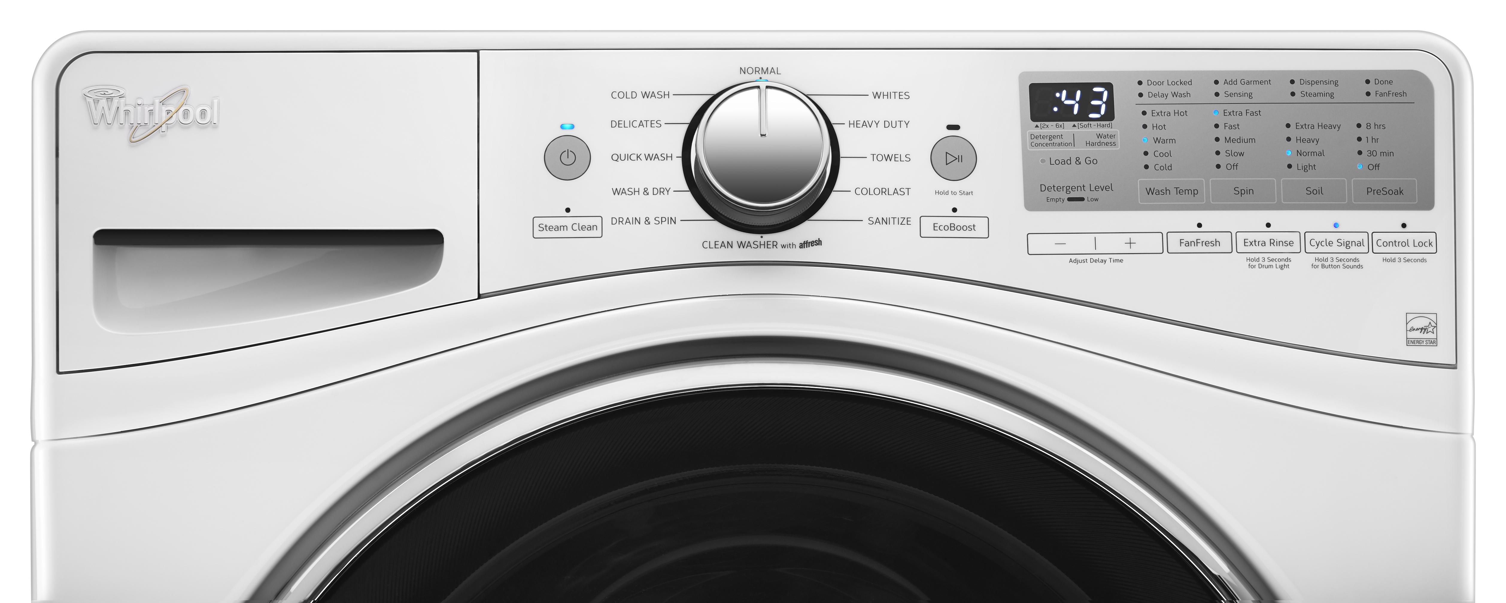 Whirlpool WED92HEFW 7.4 cu. ft. Electric Dryer w/ Advanced Moisture Sensing - White