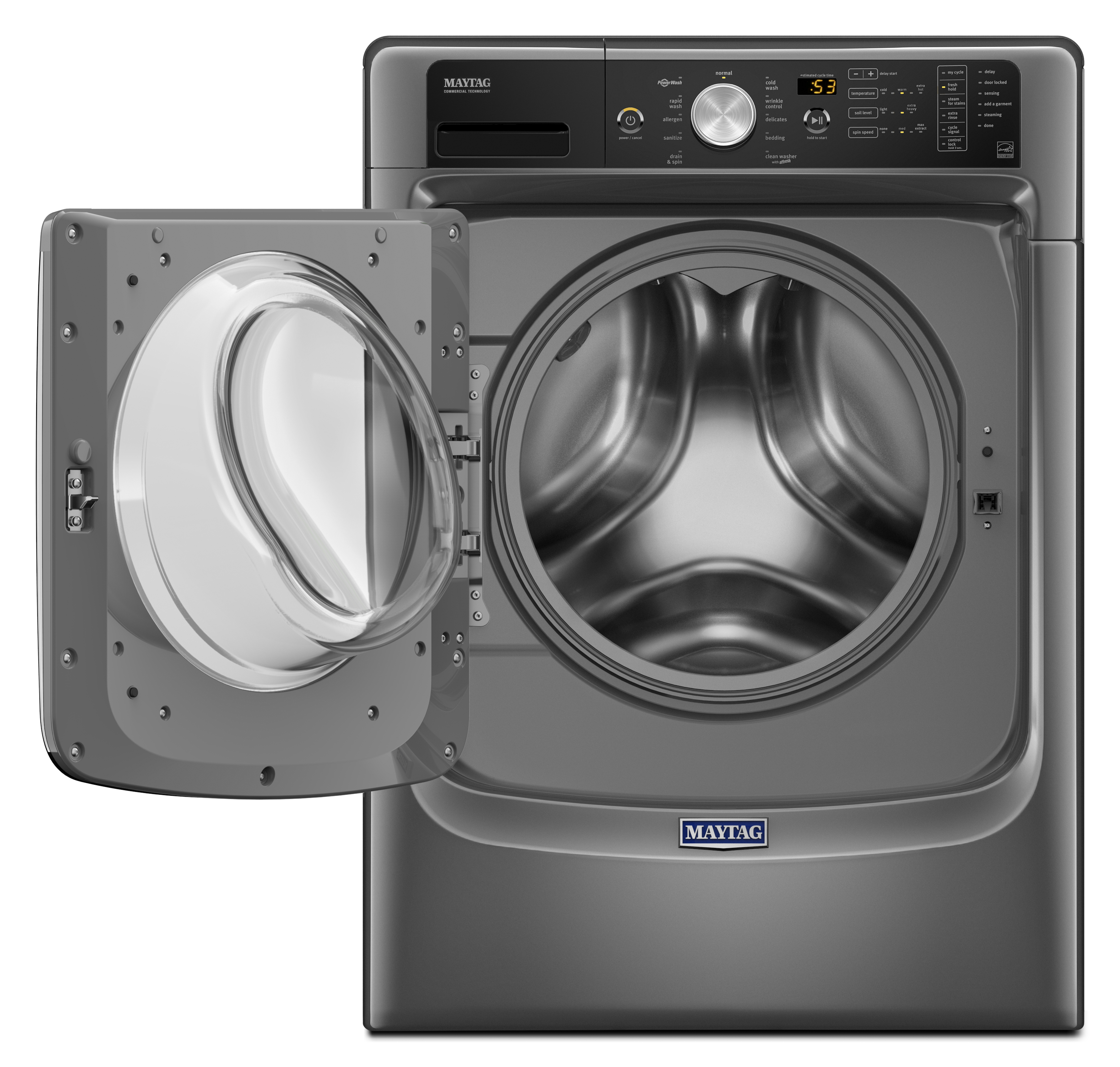 Maytag MHW5500FC 4.5 cu. ft. Front Load Washer with Fresh Hold® Option and PowerWash® System - Metallic Slate