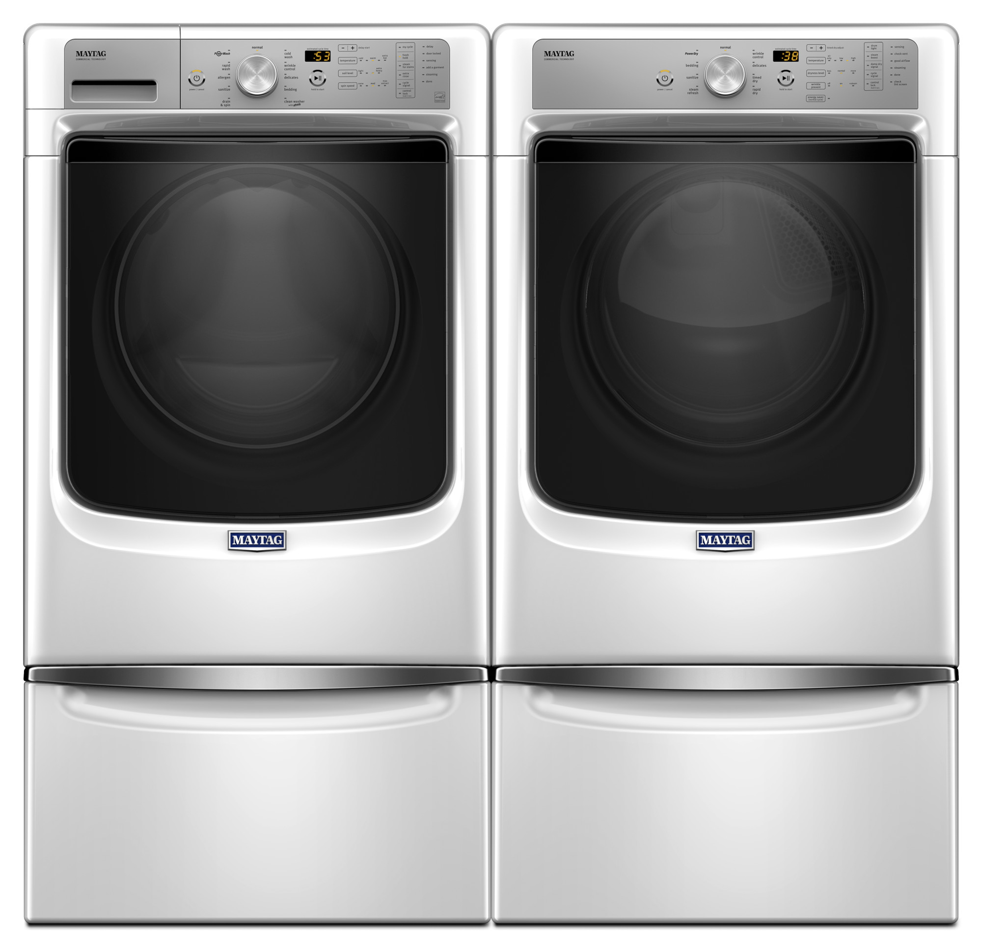 Maytag MGD5500FW 7.4 cu. ft. Gas Dryer w/ Sanitize Cycle and PowerDry System  - White