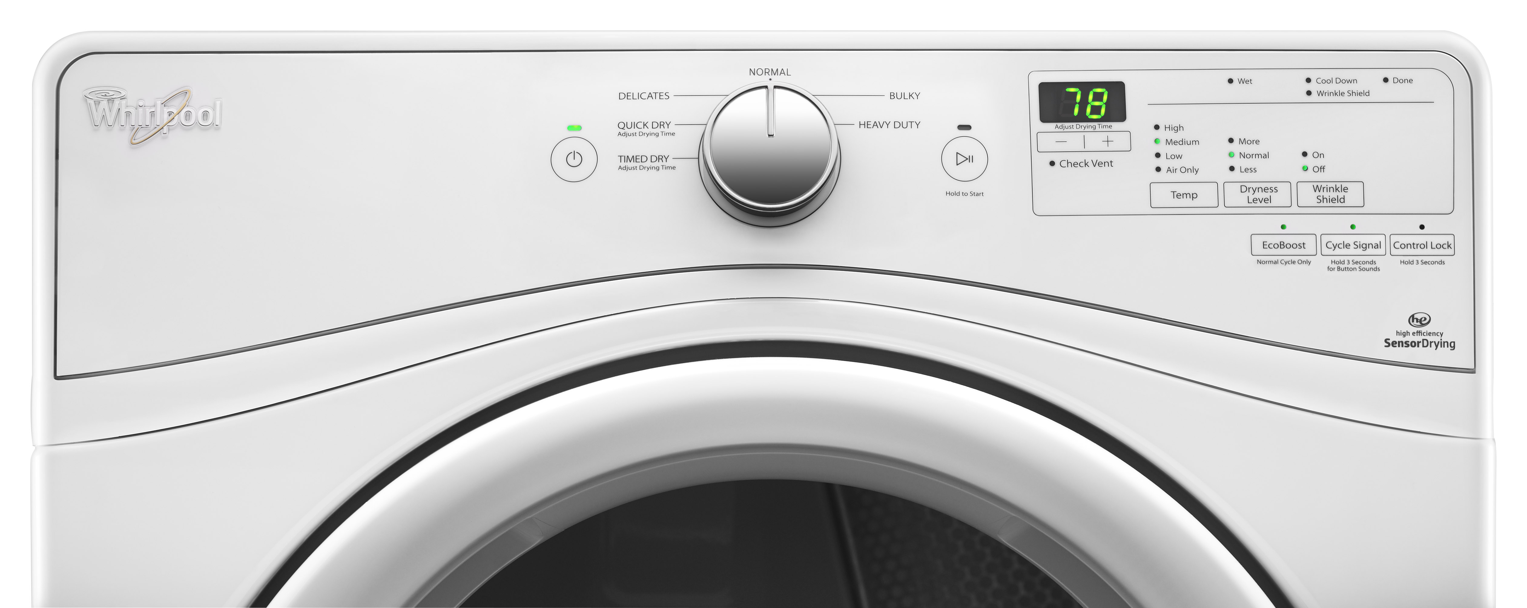 Whirlpool WED7590FW 7.4 cu. ft. Duet® Long Vent Front Load Electric Dryer w/ Wrinkle Shield™ Plus Option - White