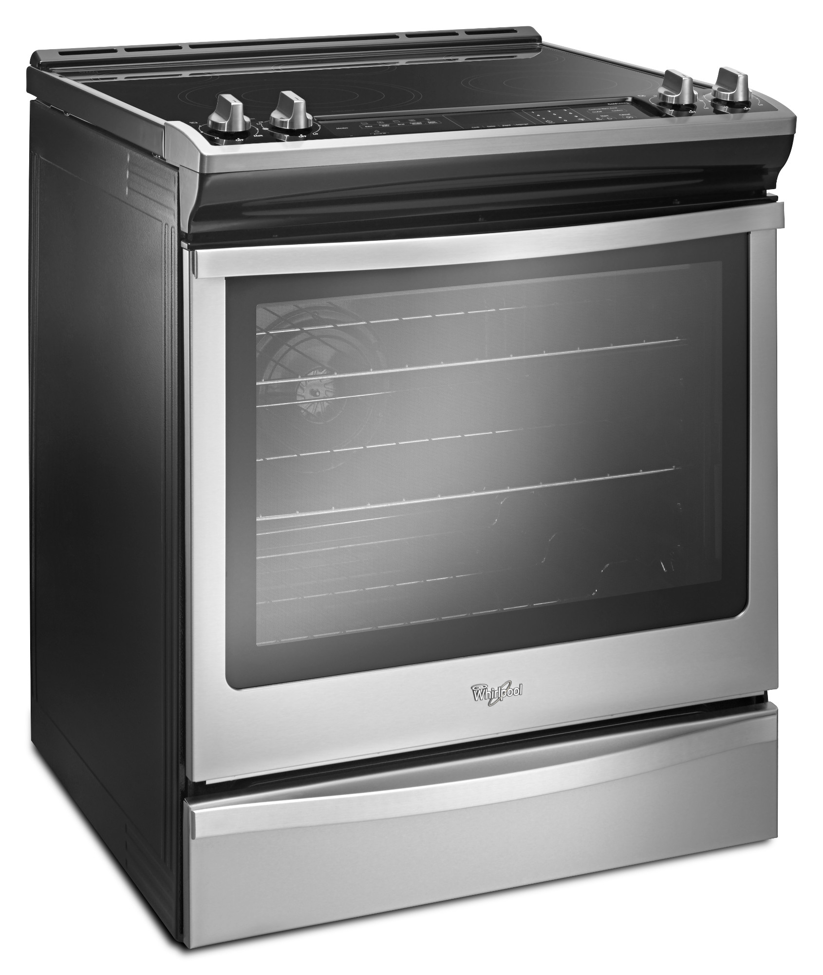 Whirlpool WEE745H0FS 6.4 cu. ft. Front-Control Electric Range with True Convection - Stainless Steel