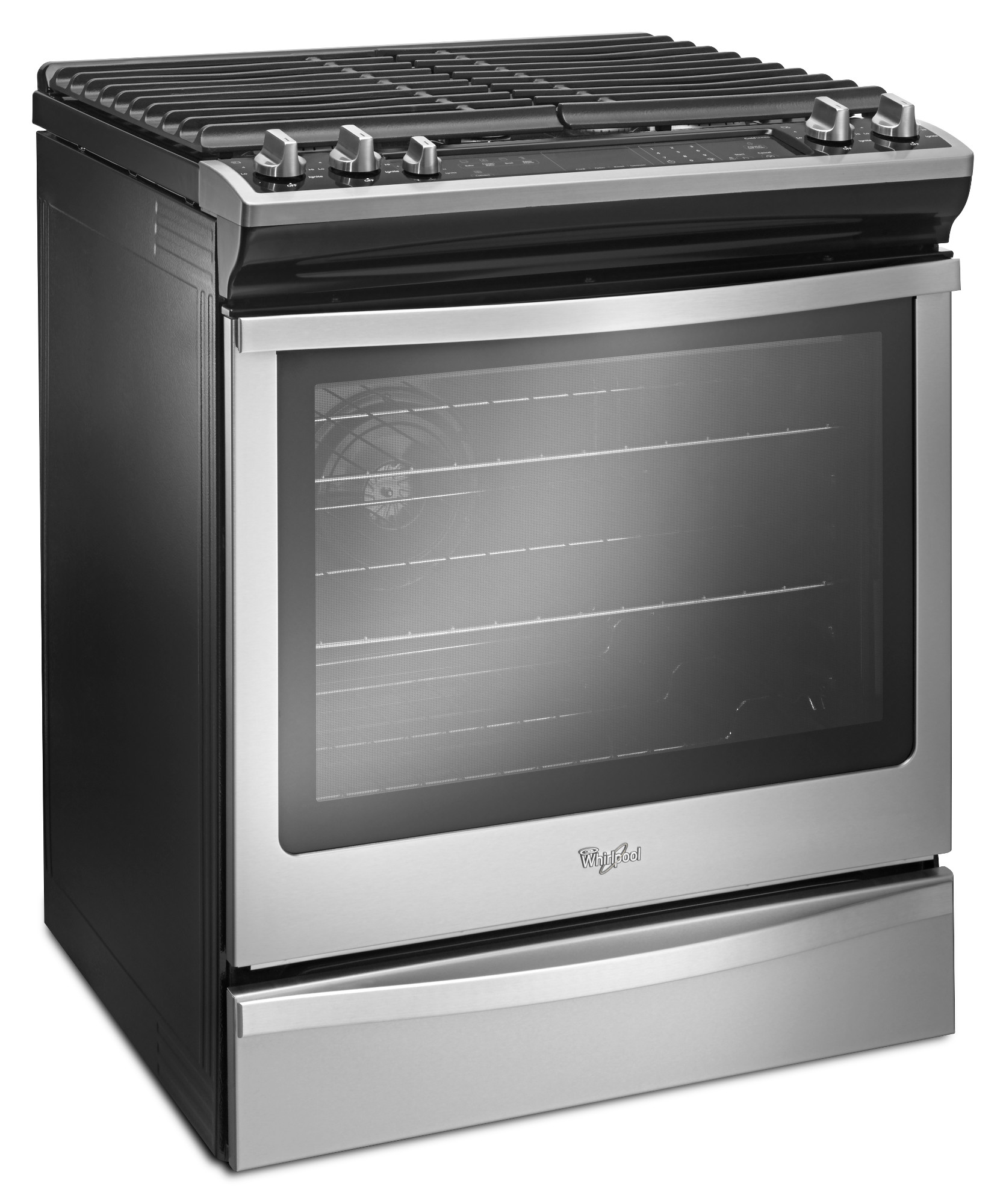 Whirlpool WEG745H0FS 5.8 cu. ft. Front-Control Gas Range with Center Oval Burner - Stainless Steel