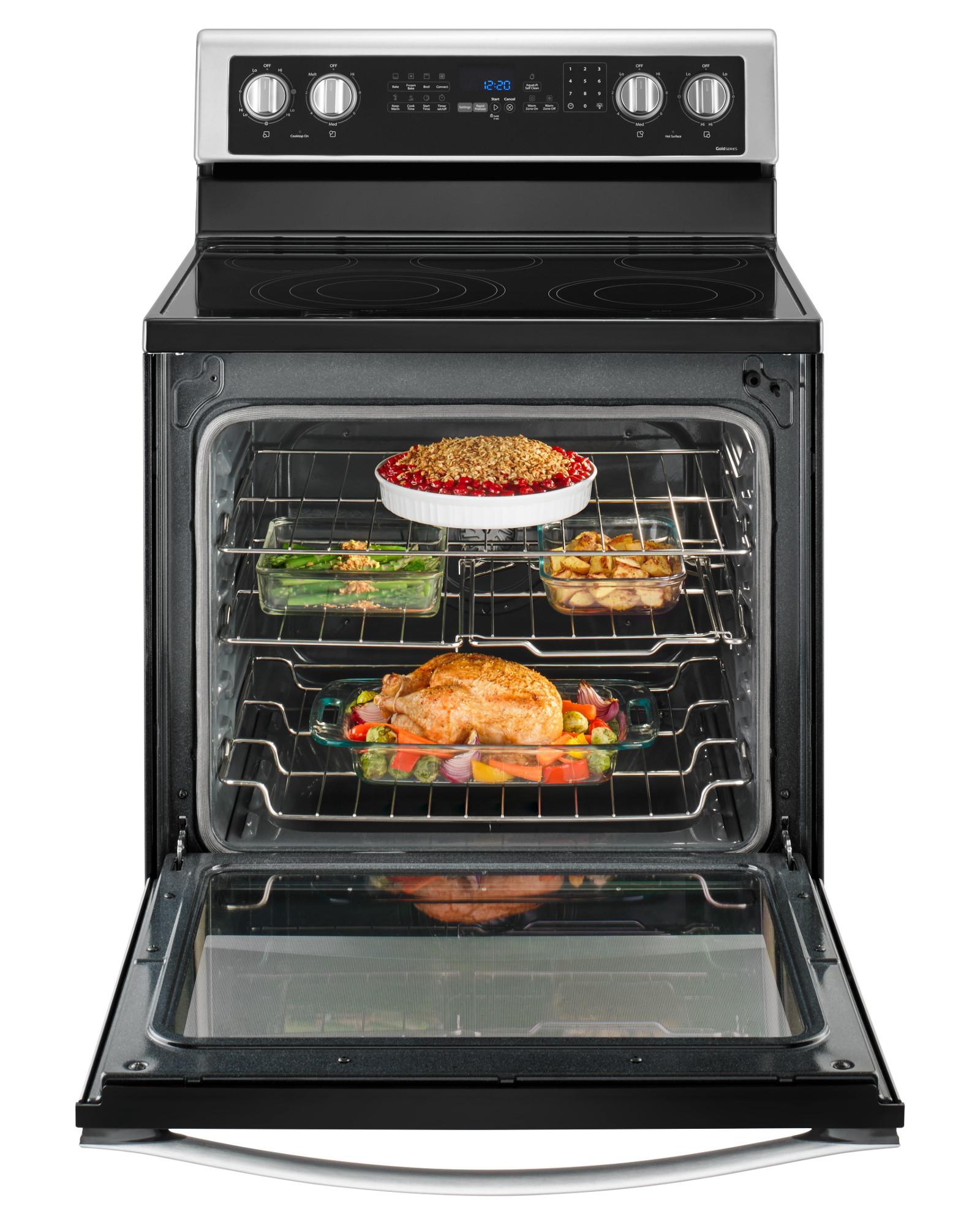 Whirlpool WFE745H0FS 6.4 cu. ft. Electric Range with True Convection - Stainless Steel