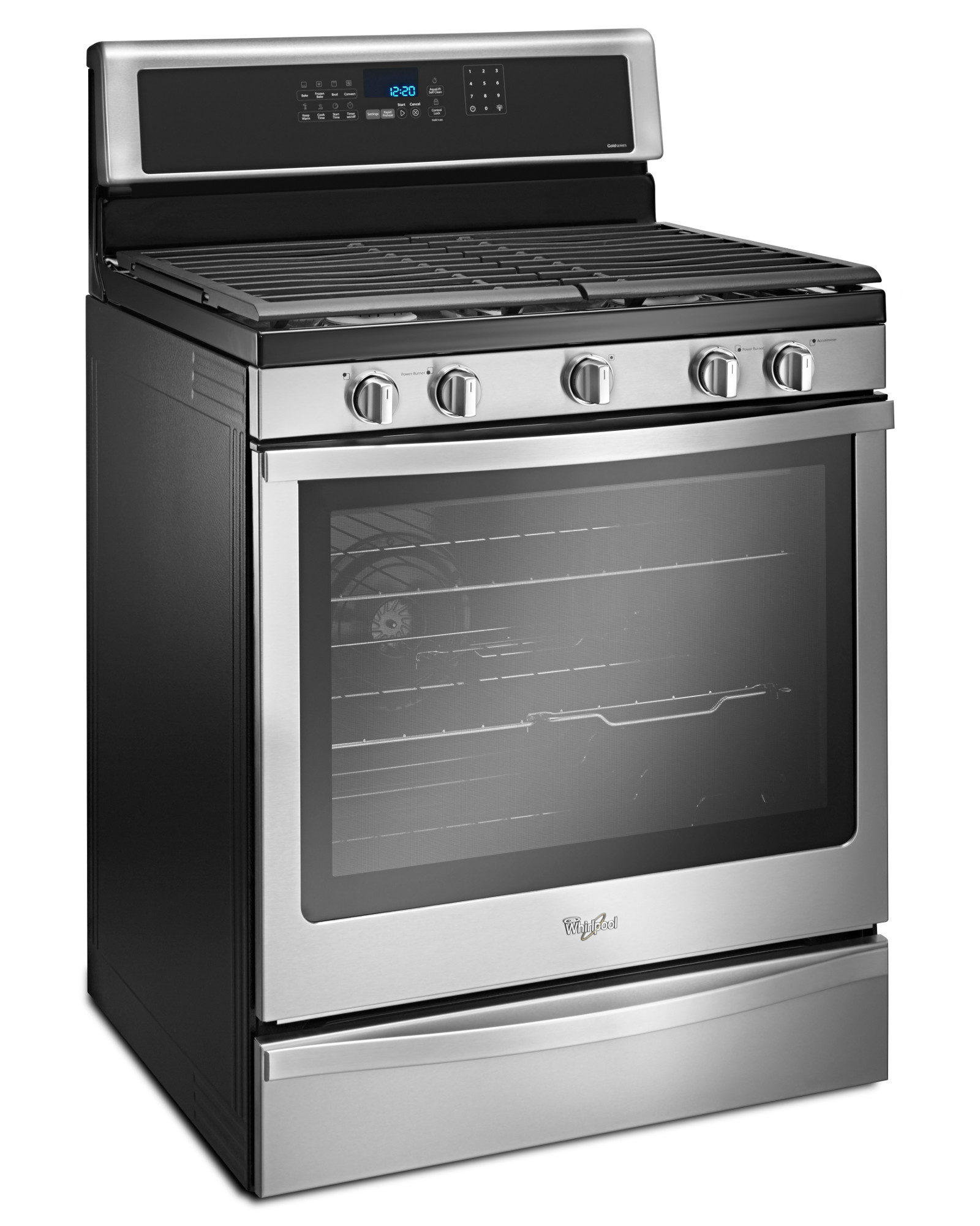 Whirlpool WFG745H0FS 5.8 cu. ft. Gas Range with Center Oval Burner - Stainless Steel