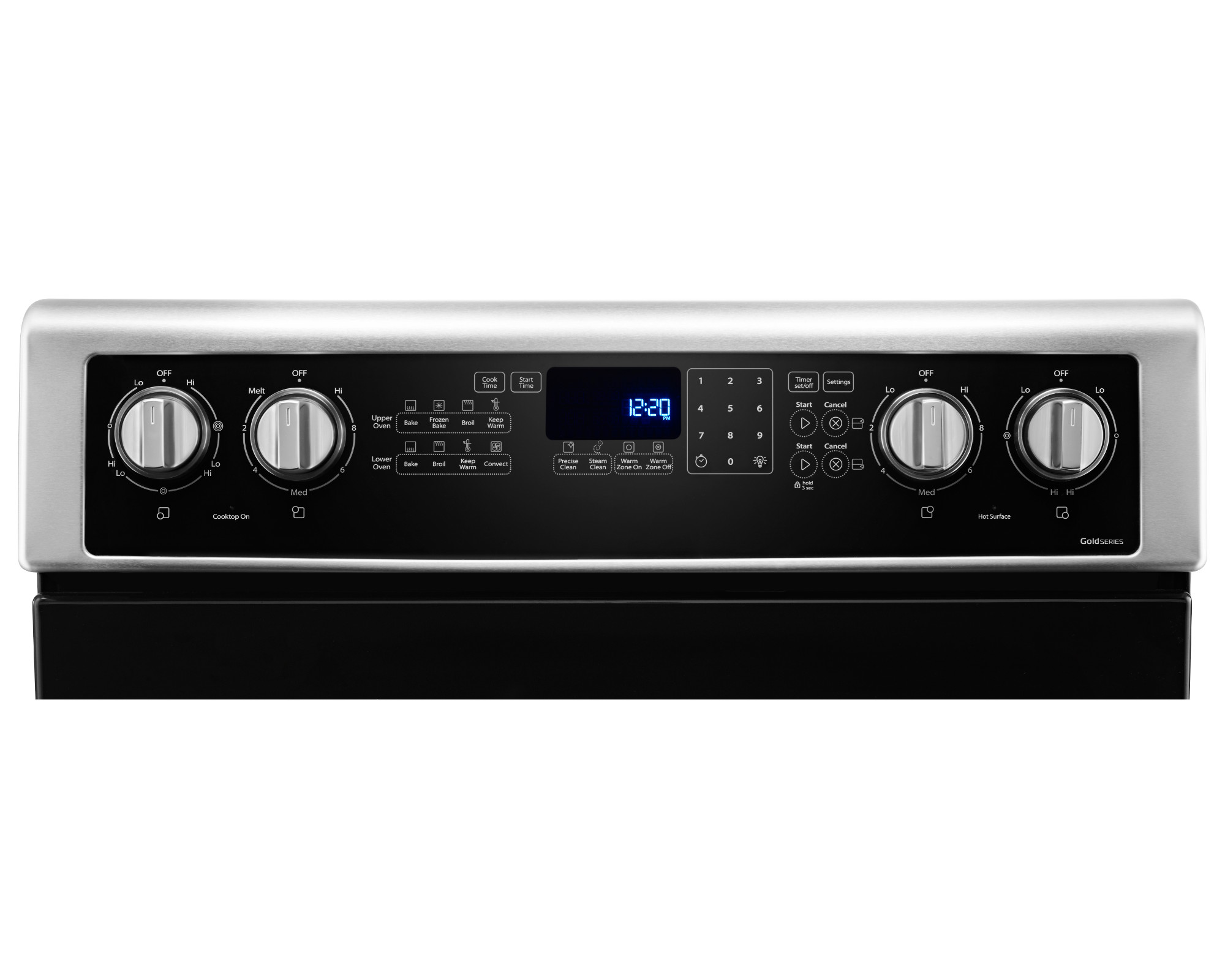 Whirlpool WGE745C0FS 6.7 cu. ft. Electric Double Oven Range with True Convection - Stainless Steel