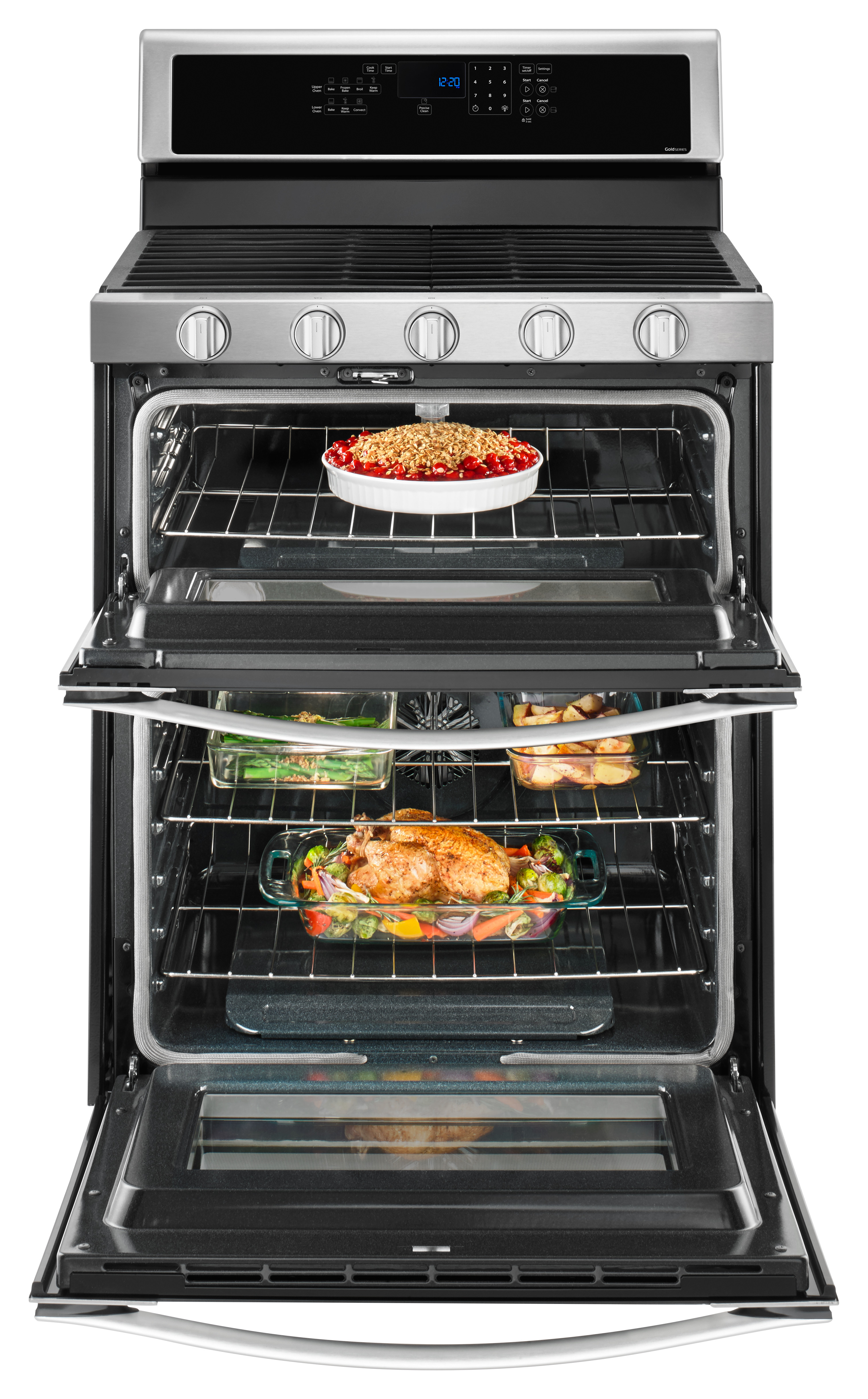Whirlpool WGG745S0FS 6.0 cu. ft. Gas Double Oven Range with Center Oval Burner - Stainless Steel