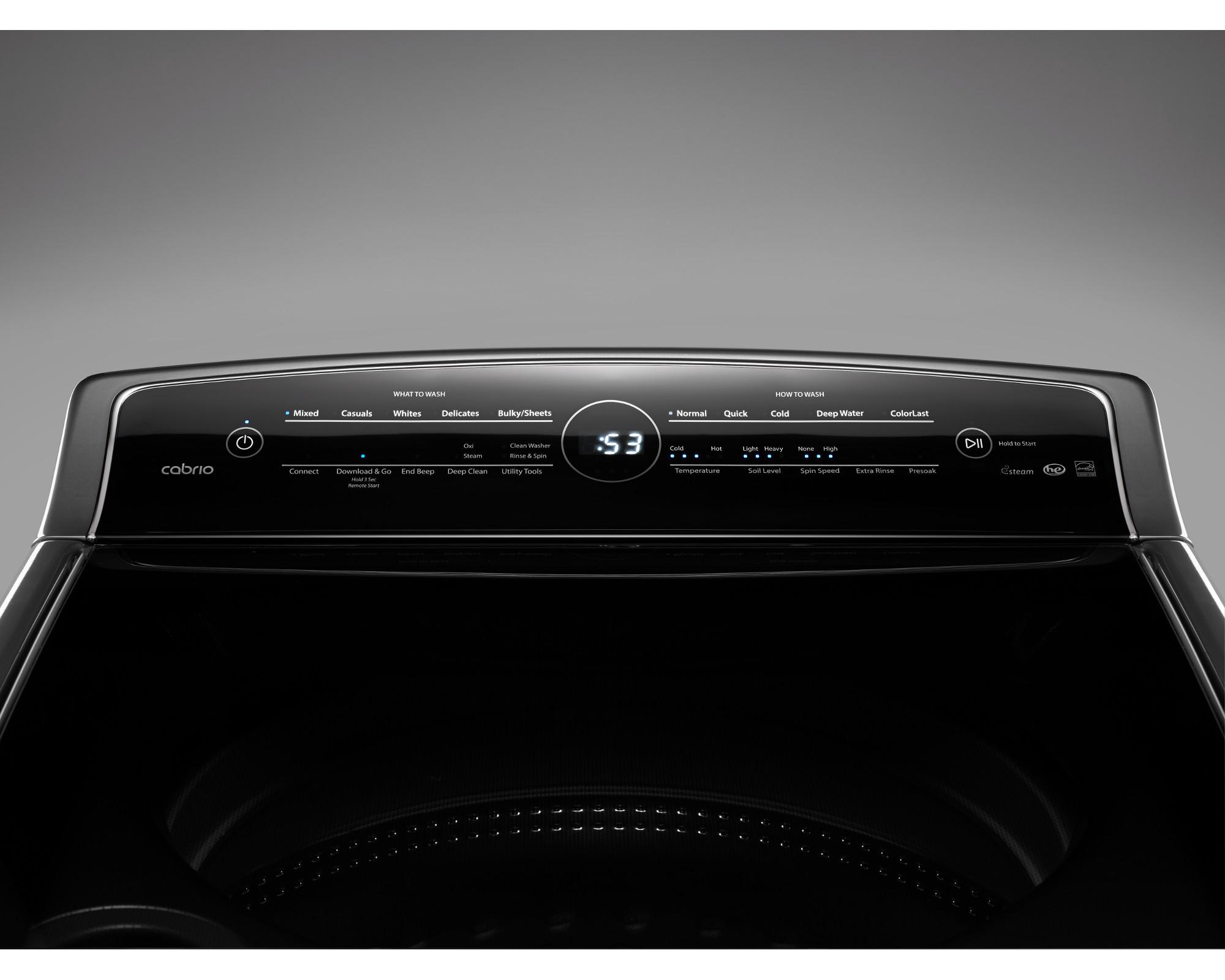 Whirlpool WTW8700EC 5.3 cu. ft. Smart Cabrio® Top Load Washer w/ Laundry App - Chrome Shadow