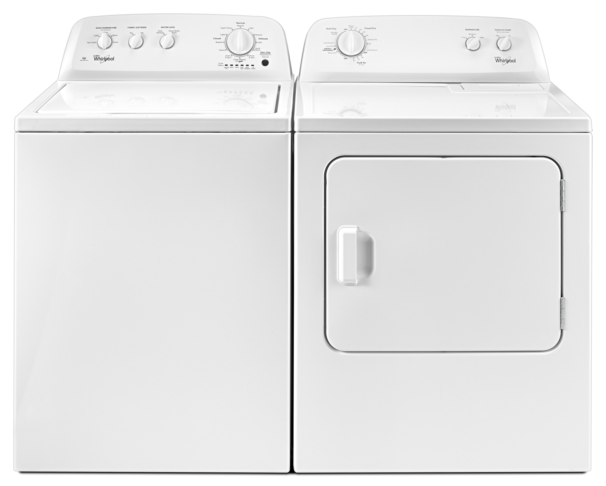 Whirlpool WTW4616FW 3.5 cu. ft. Top Load Washer w/ Deep Water Wash Option - White
