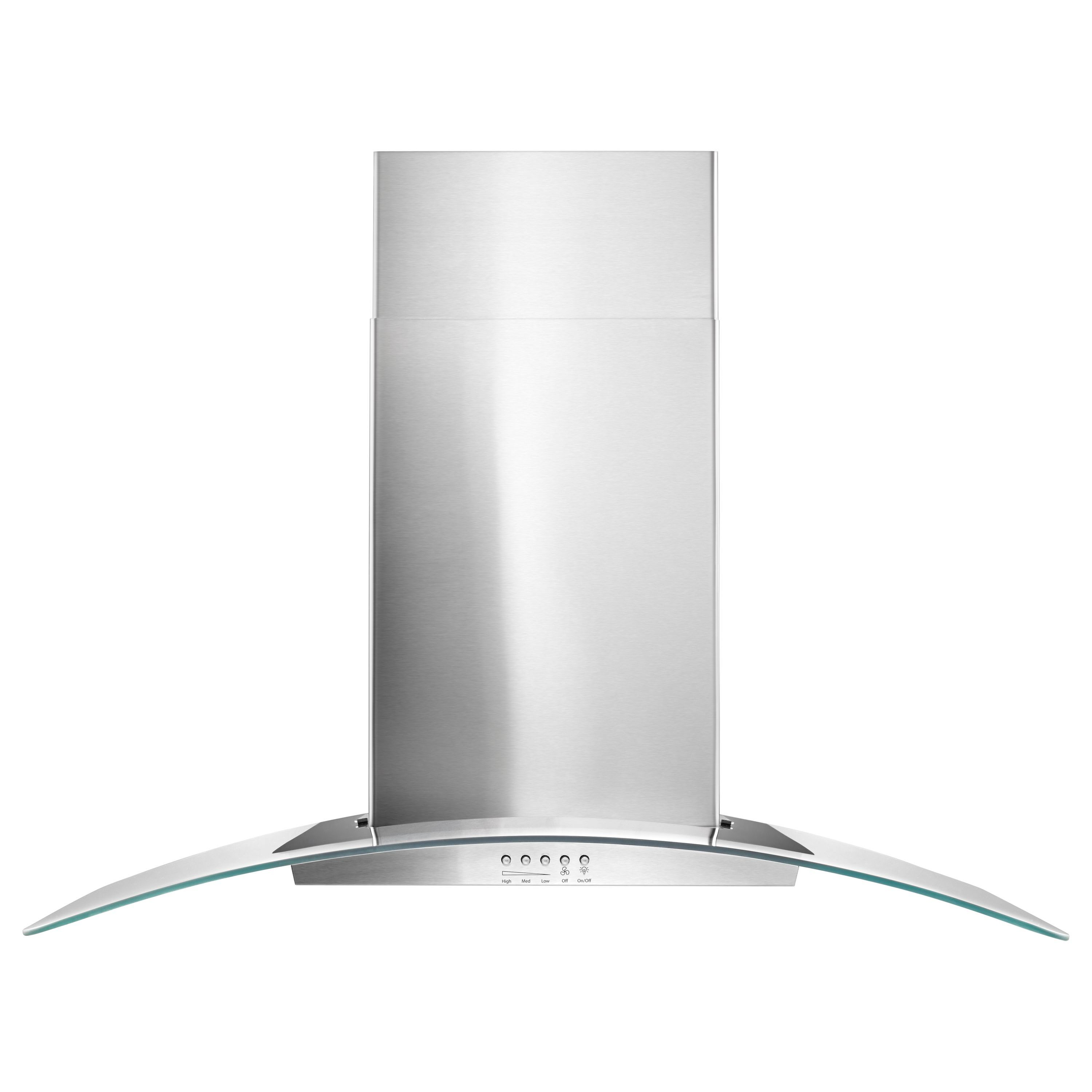 Whirlpool WVW51UC6FS 36 Concave Glass Wall Mount Range Hood