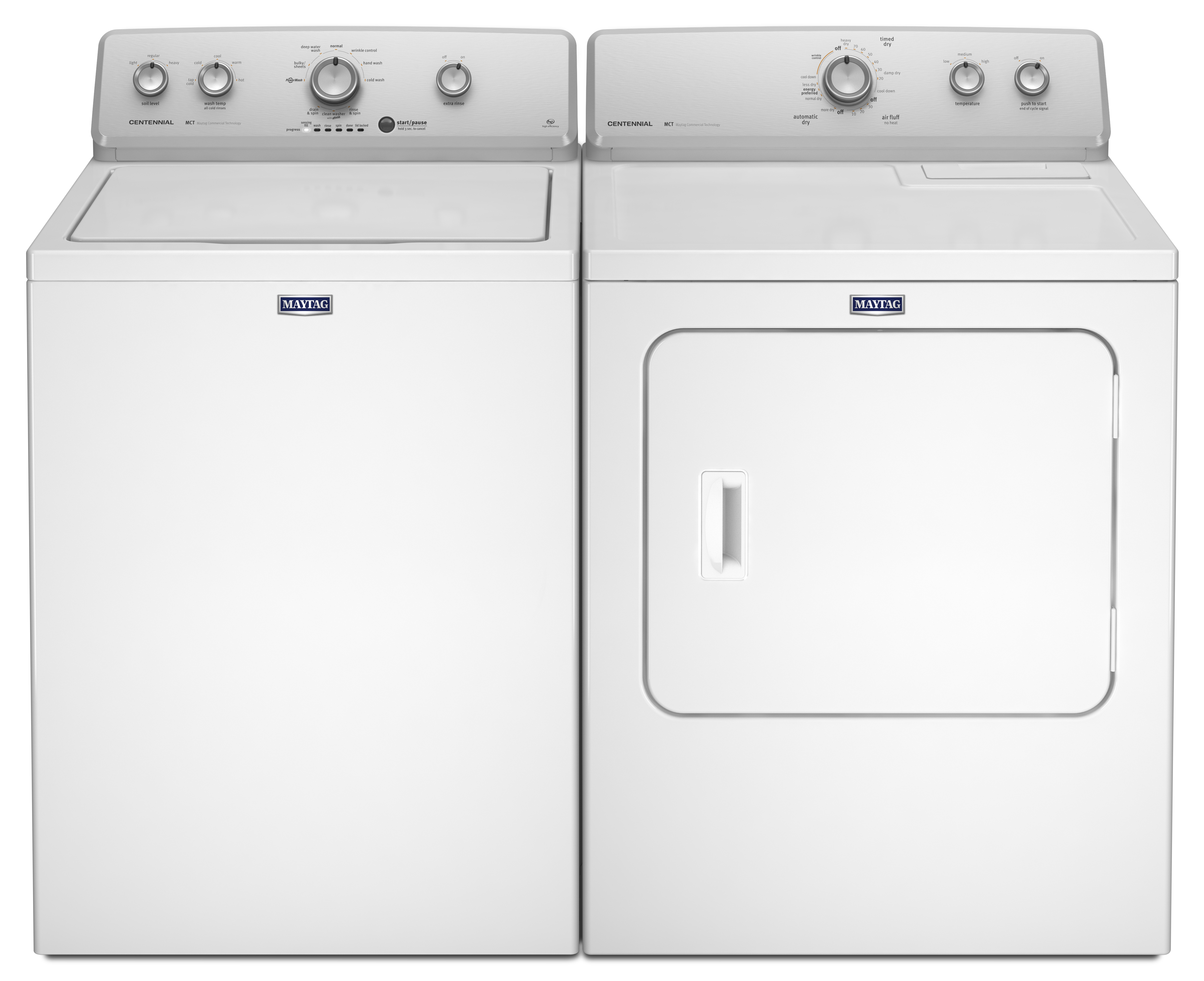 3.6 cu. ft. Top-Load Washer w/PowerWash & 7.0 cu. ft. Gas or Electric Dryer - White