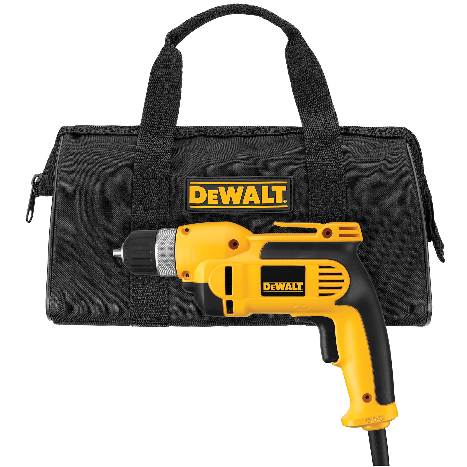 DeWalt 3/8 in. (10mm) VSR Pistol Grip Drill Kit with Keyless Chuck