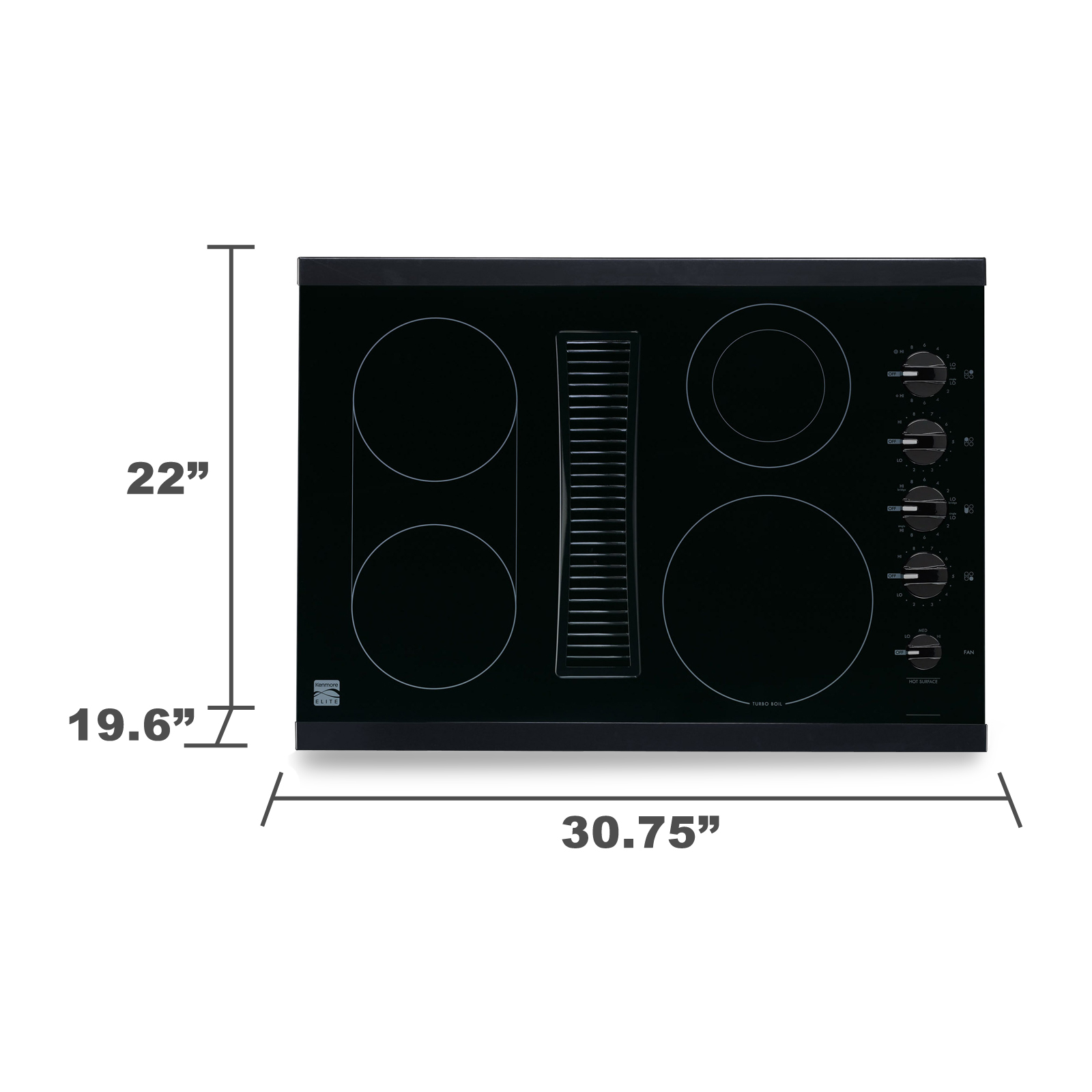 "Kenmore Elite 44119 30"" Downdraft Electric Cooktop"