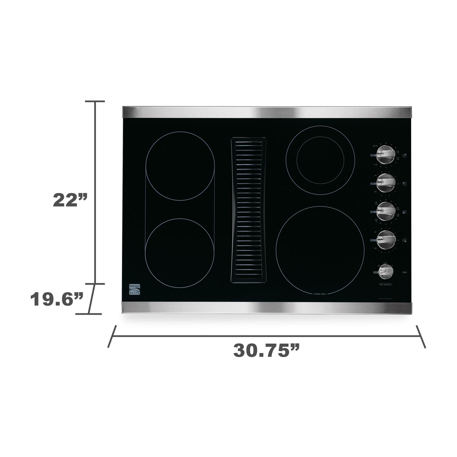"Kenmore Elite 44113 30"" Downdraft Electric Cooktop"