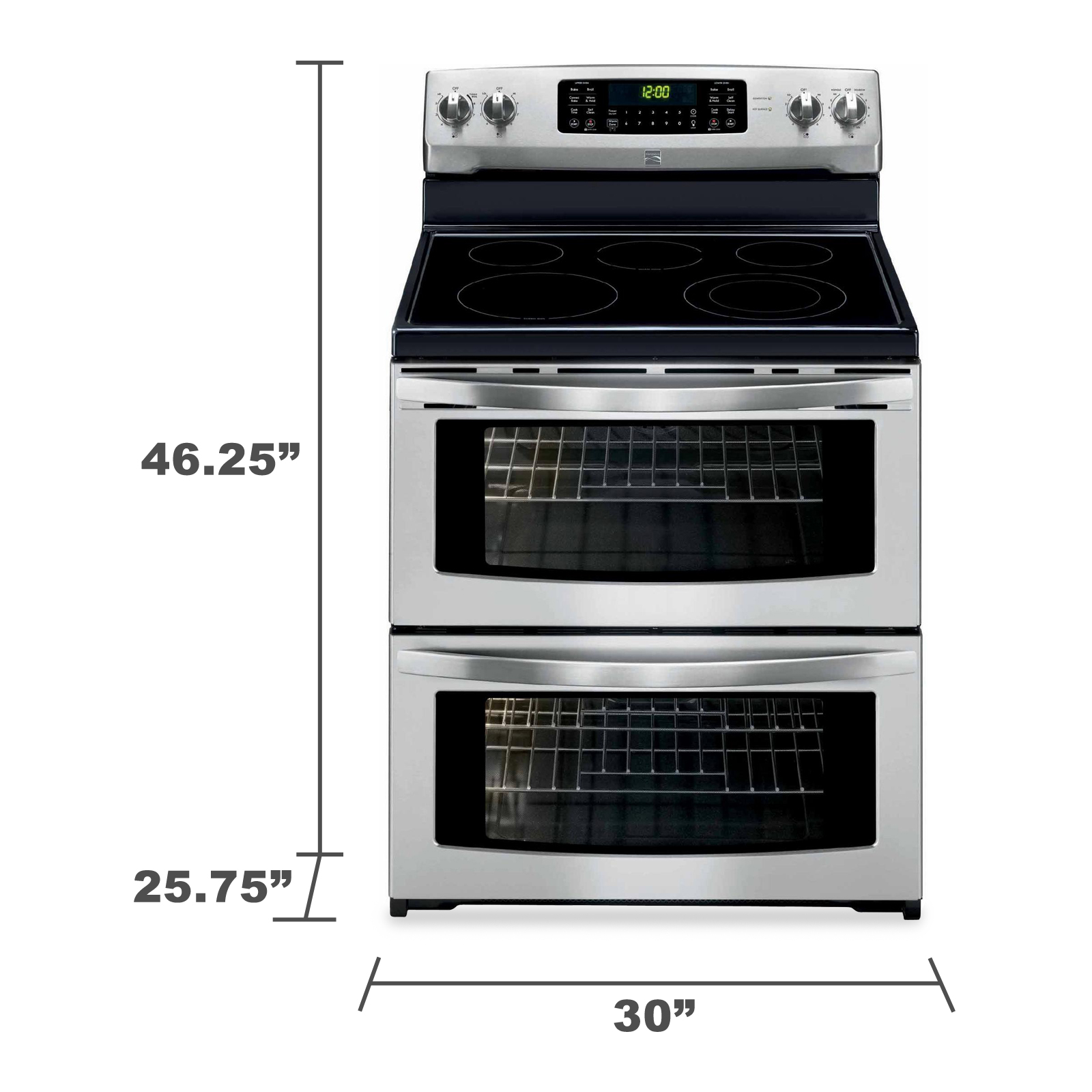 Kenmore 97213 7.2 cu. ft. Double-Oven Electric Range w/ Convection - Stainless Steel