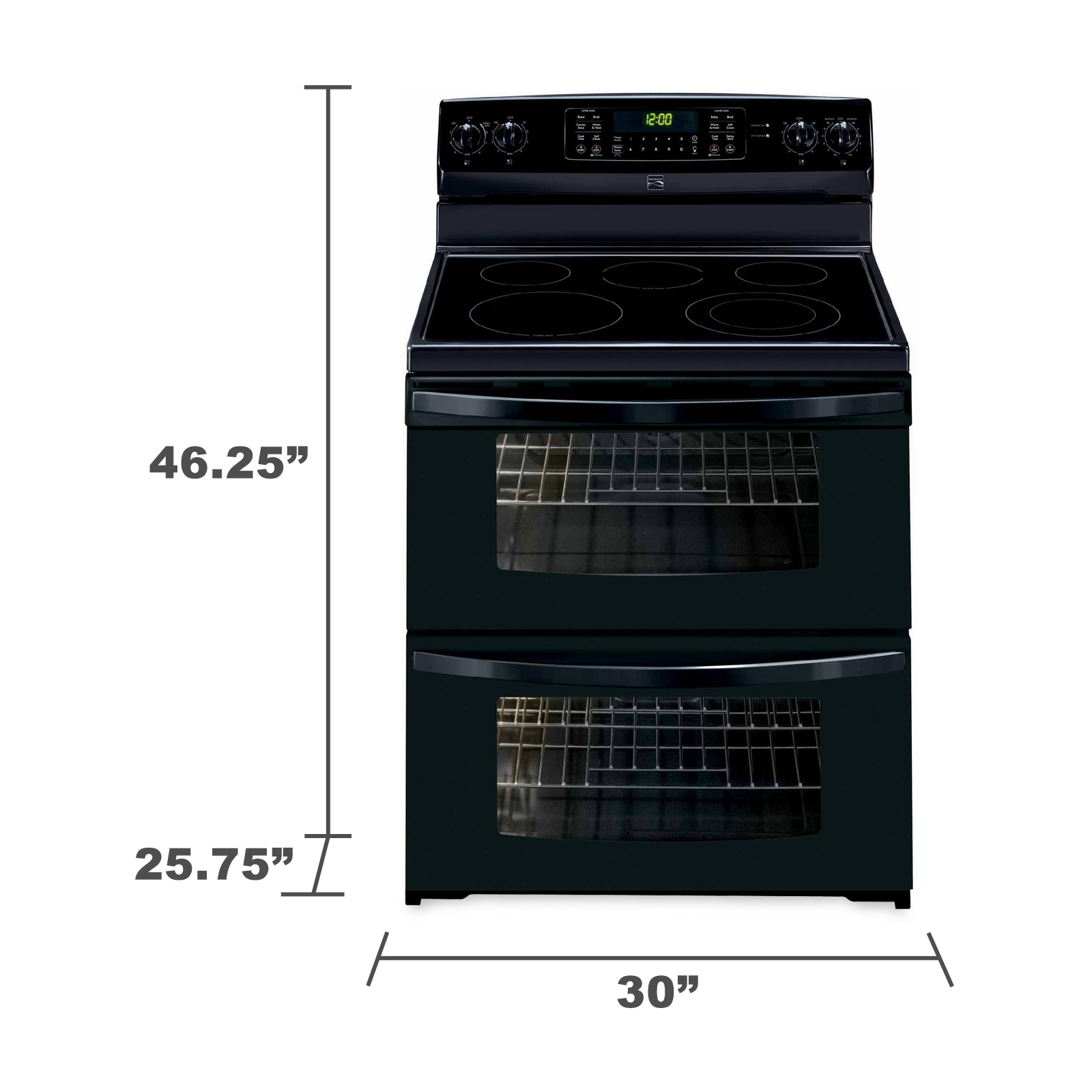 Kenmore 97219 7.2 cu. ft. Double-Oven Electric Range w/ Convection - Black