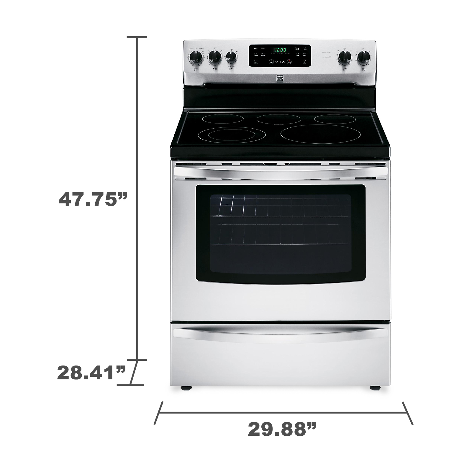 Kenmore 94183 5.4 cu. ft. Electric Range - Stainless Steel