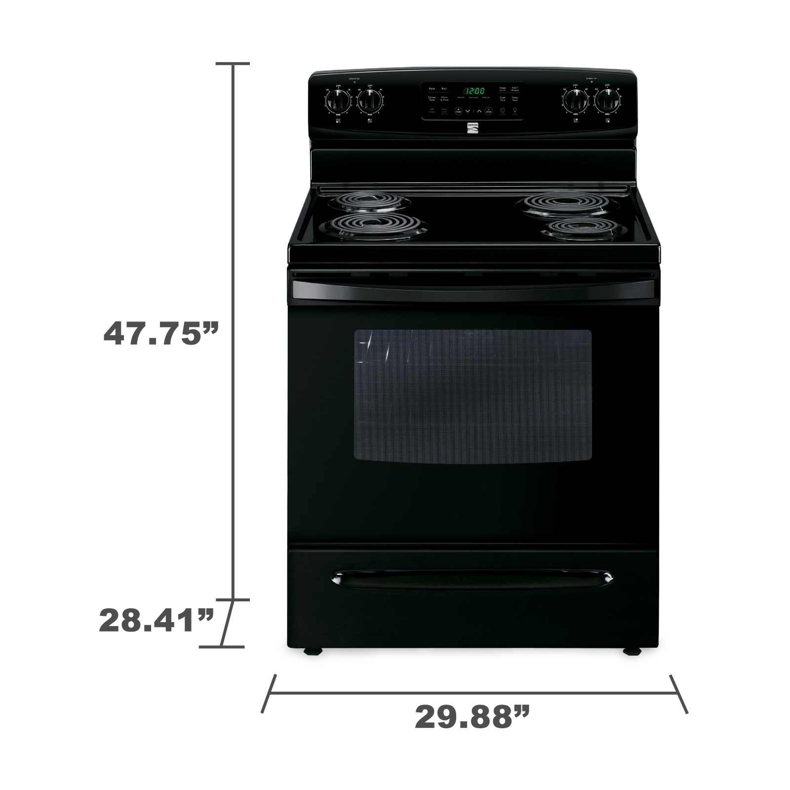 Kenmore 94159 5.4 cu. ft. Self-Cleaning Electric Range w / Convection Oven - Black