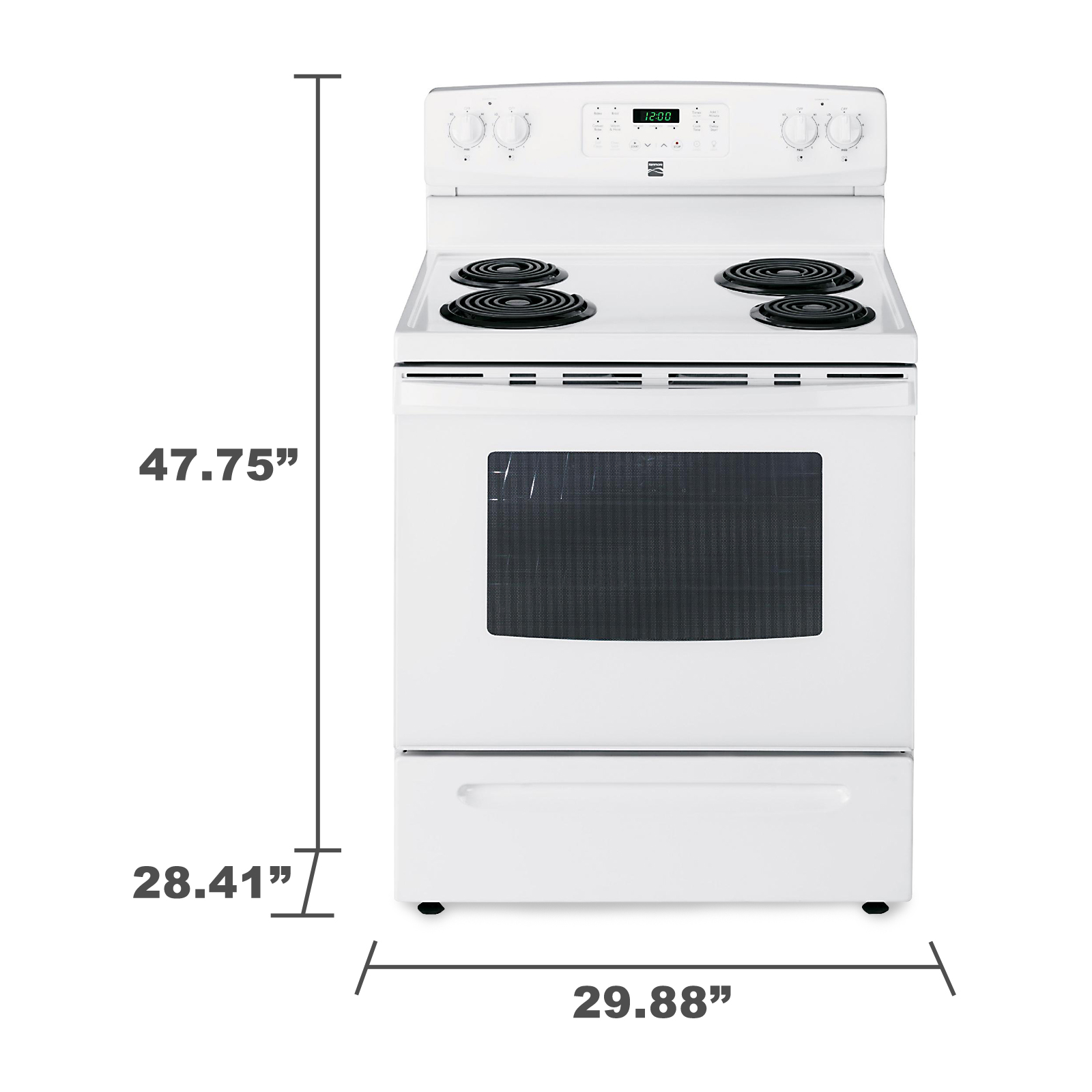 Kenmore 94152 5.4 cu. ft. Self-Cleaning Electric Range w / Convection Oven  - White