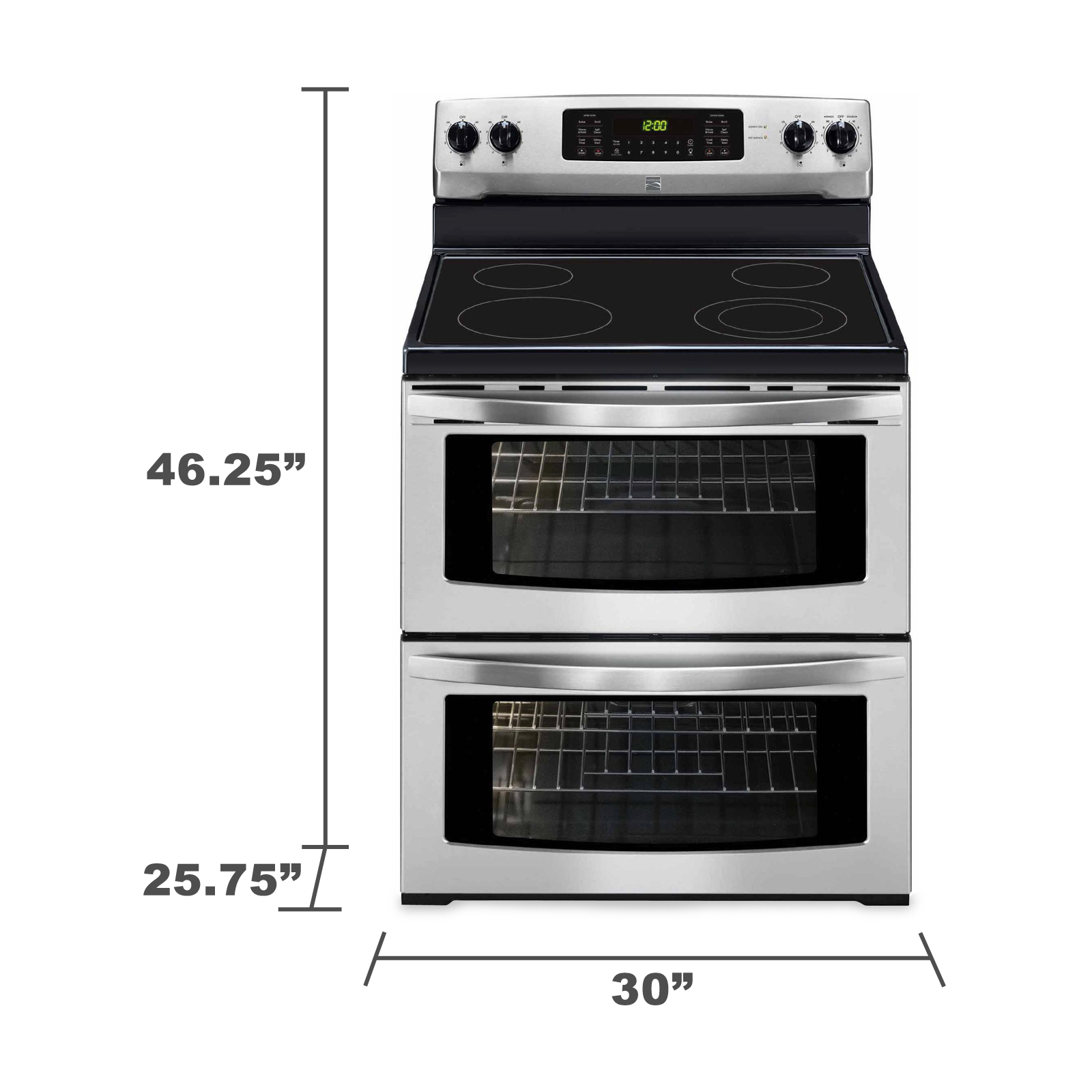 Kenmore 97613 7.2 cu. ft. Double-Oven Electric Range  - Stainless Steel