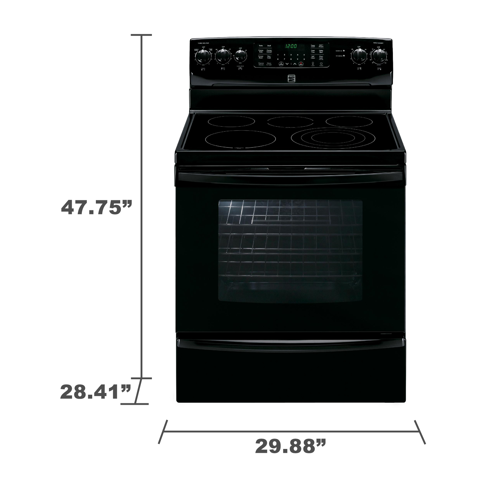 Kenmore 94249 5.8 cu. ft. Electric Range w/ True Convection - Black