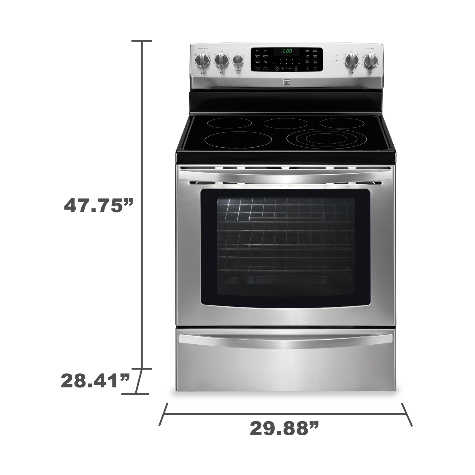 Kenmore 94243 5.8 cu. ft. Electric Range w/ True Convection - Stainless Steel