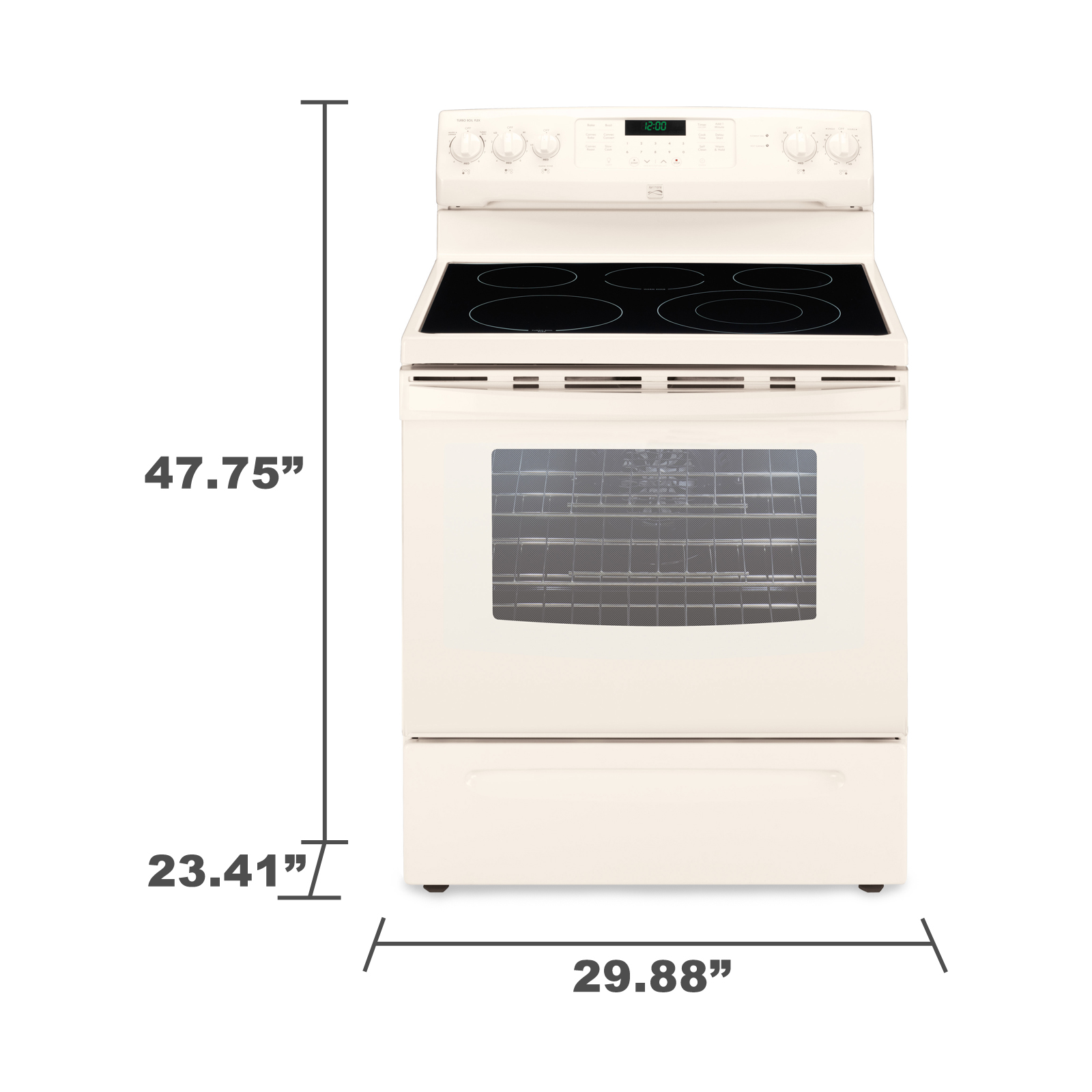 Kenmore 94204 5.7 cu. ft. Electric Range w/ True Convection - Bisque