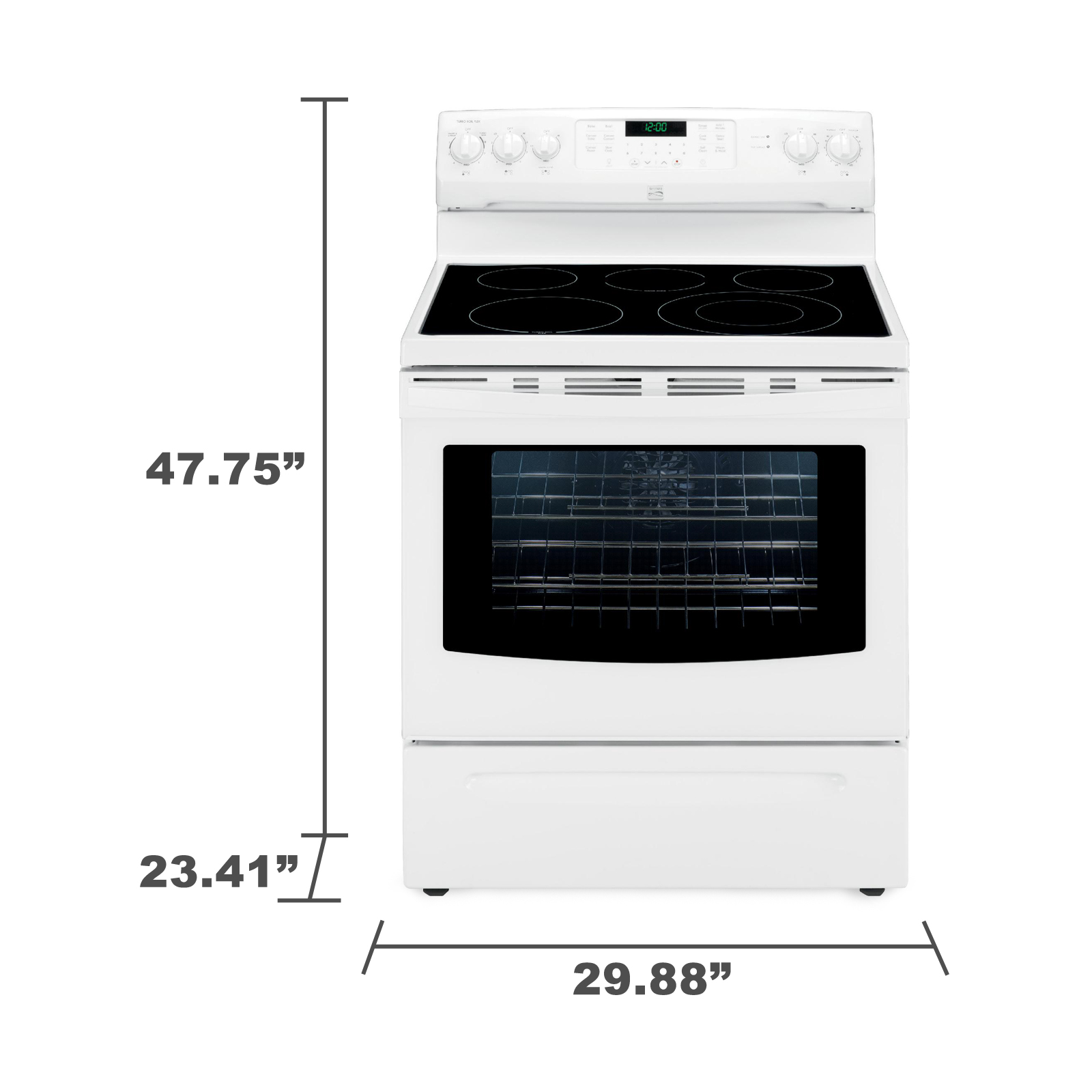 Kenmore 94202 5.7 cu. ft.  Electric Range w/ True Convection - White