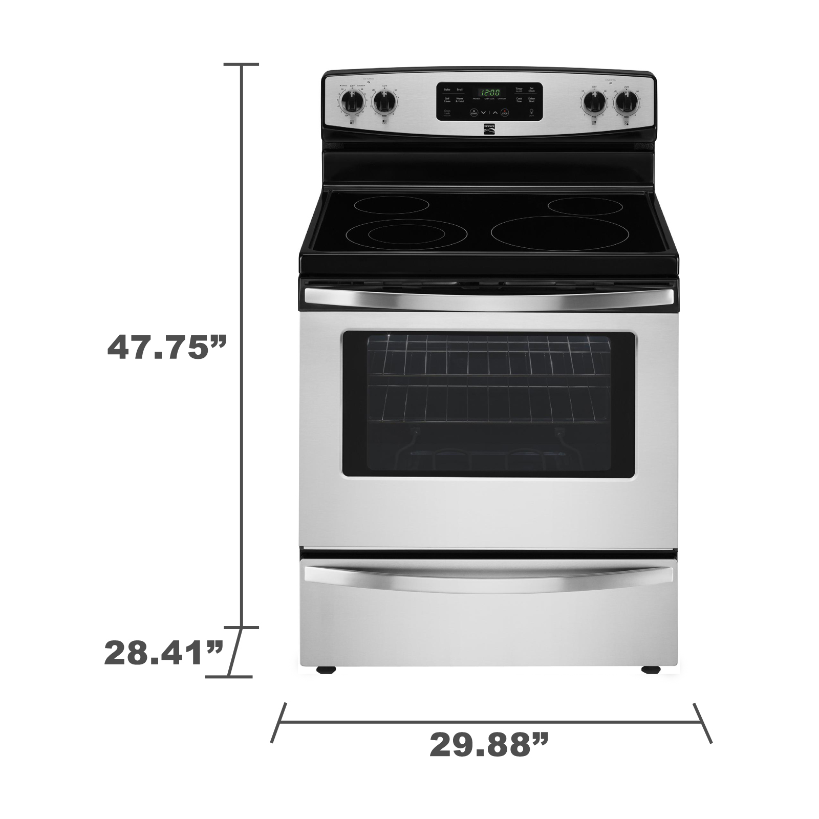Kenmore 94173 5.3 cu. ft. Self-Cleaning Electric Range - Stainless Steel