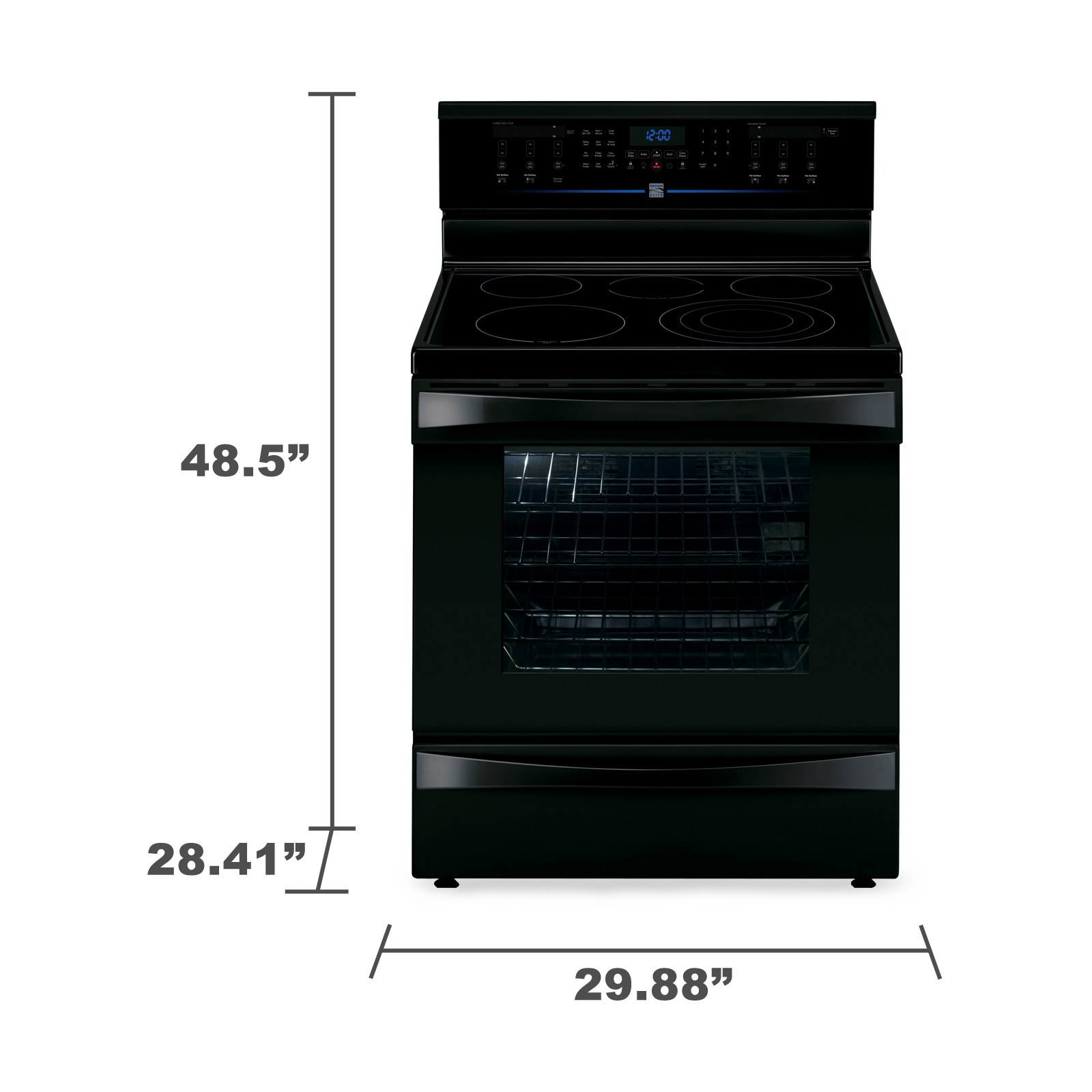 Kenmore Elite 6.1 cu. ft. Electric Range w/ Dual True Convection -  Black