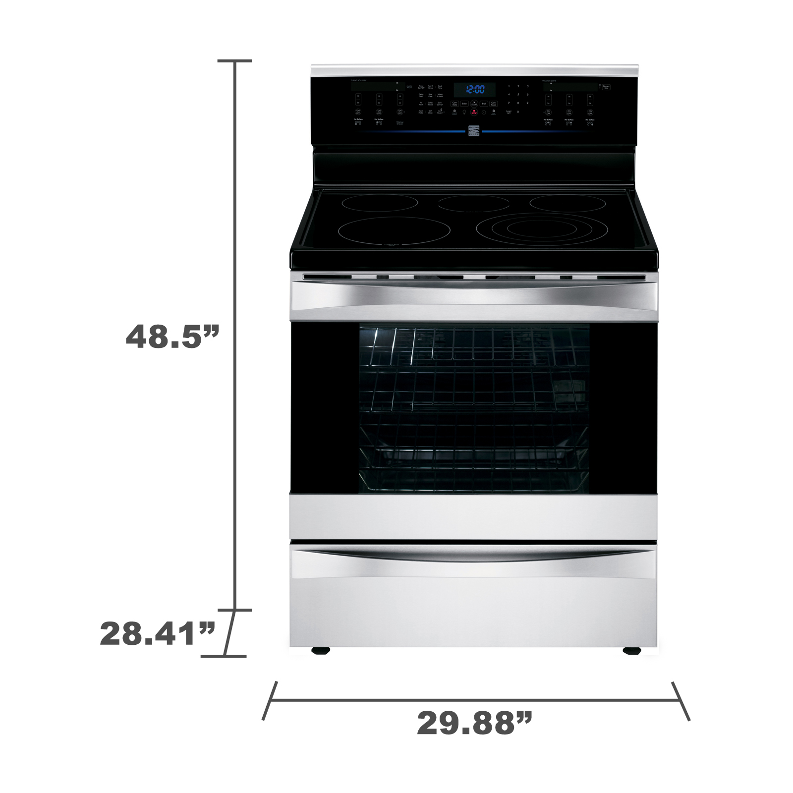 Kenmore Elite 95063 6.1 cu. ft. Electric Range w/ Dual True Convection - Stainless Steel
