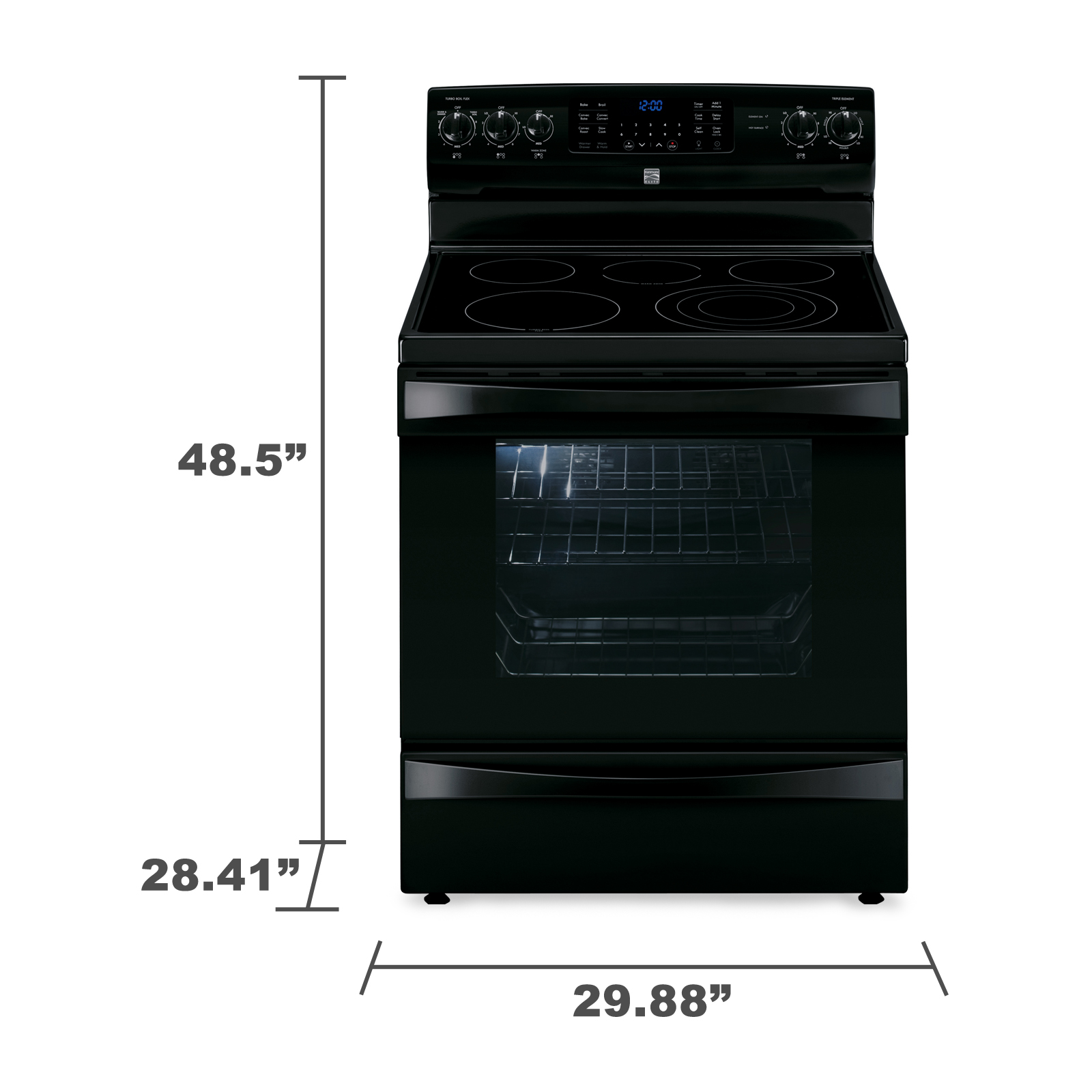 Kenmore Elite 95059 6.1 cu. ft. Electric Range w/ Dual True Convection - Black