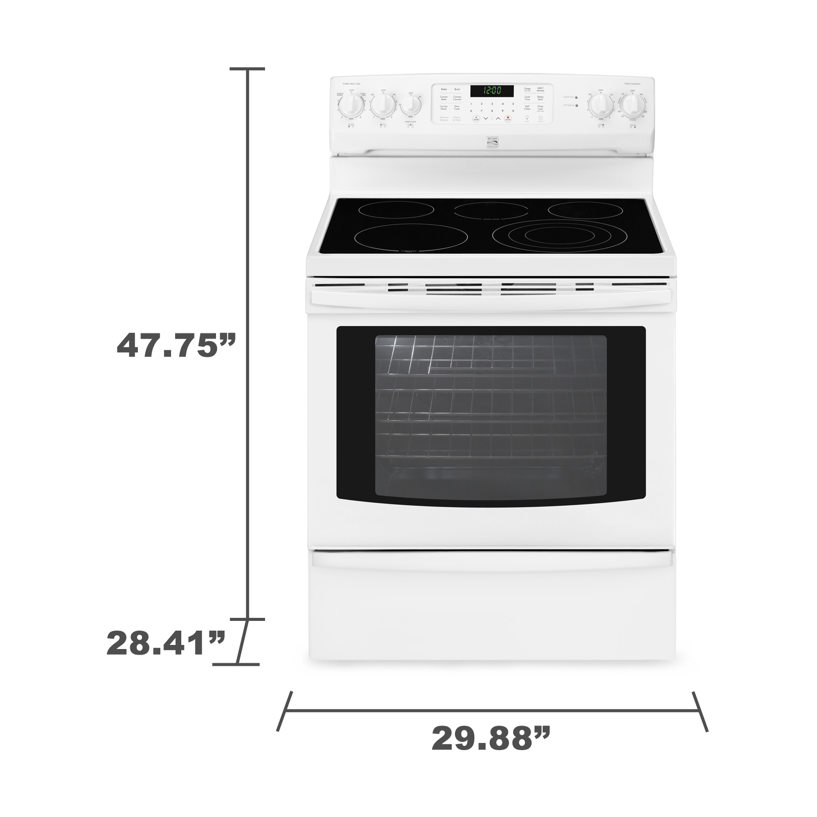Kenmore 94242 5.8 cu. ft. Electric Range w/ True Convection - White