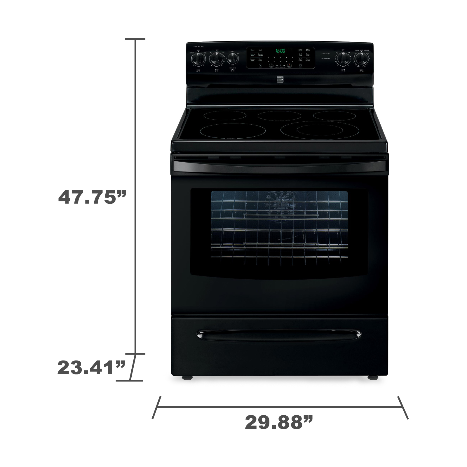 Kenmore 94209 5.7 cu. ft.  Electric Range w/ True Convection - Black