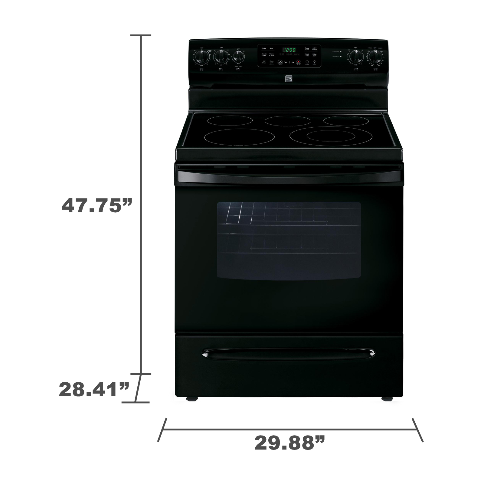 Kenmore 94199 5.4 cu. ft. Electric Range w/ Convection Oven - Black