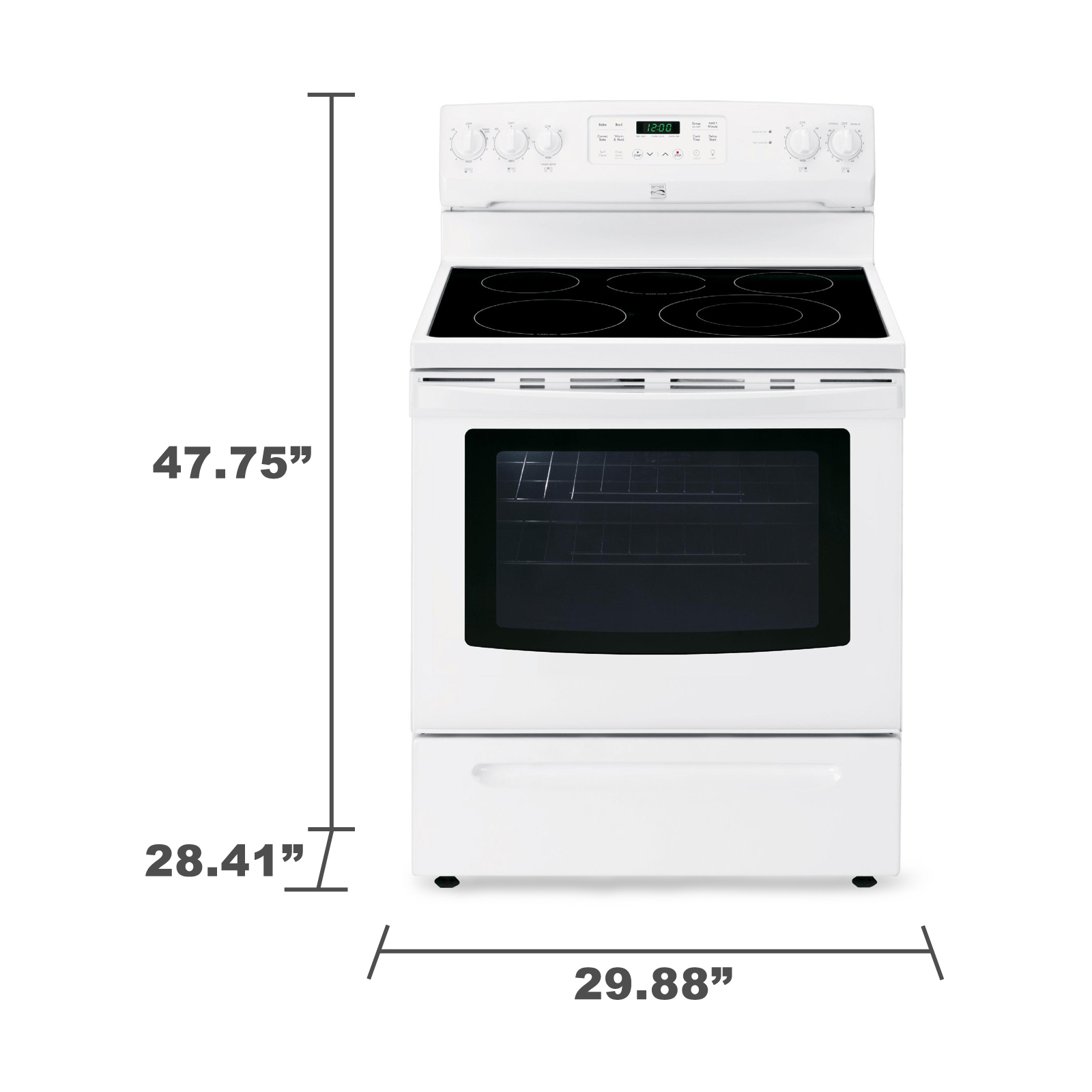 Kenmore 5.4 cu. ft. Electric Range w/ Convection Oven - White