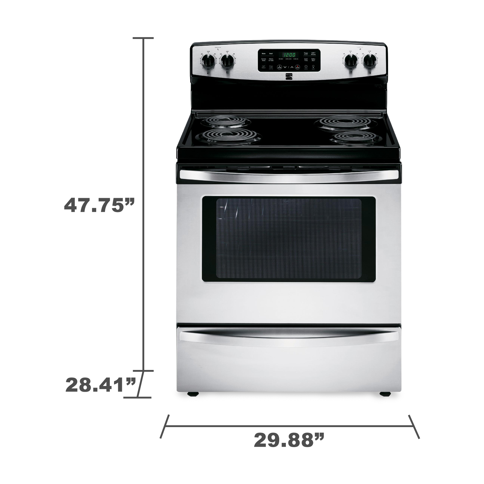 Kenmore 94153 5.4 cu. ft. Self-Cleaning Electric Range w / Convection Oven - Stainless Steel