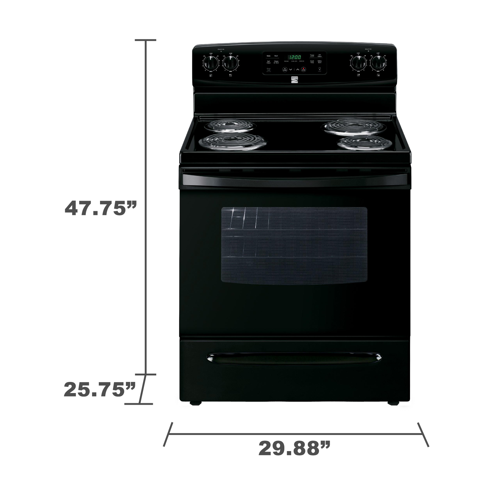 Kenmore 94149 5.3 cu. ft. Electric Range w/ Self-Cleaning Oven - Black
