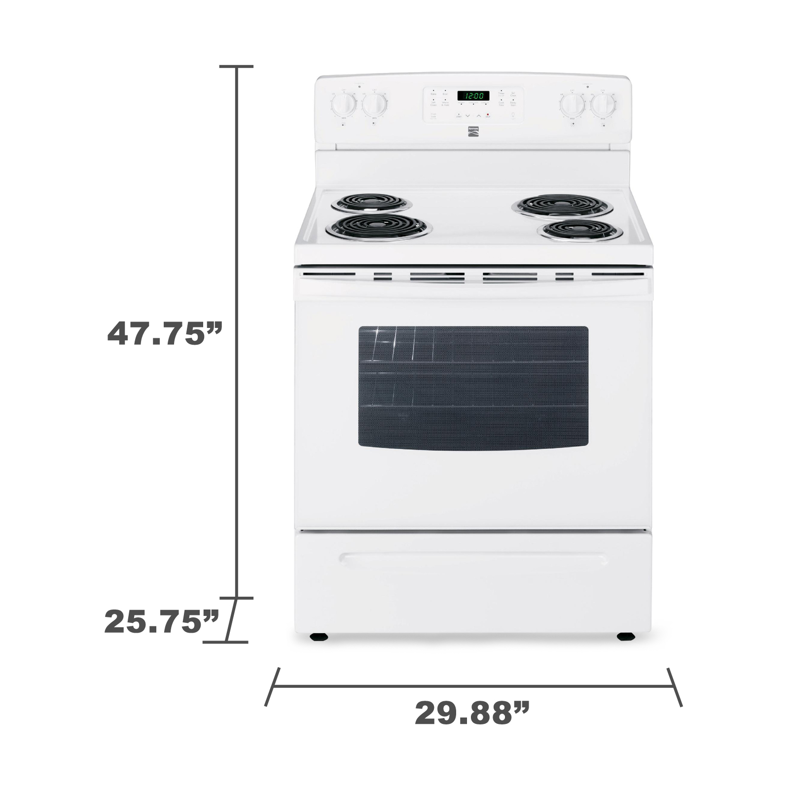 Kenmore 94142 5.3 cu. ft. Electric Range w/ Self-Cleaning Oven - White