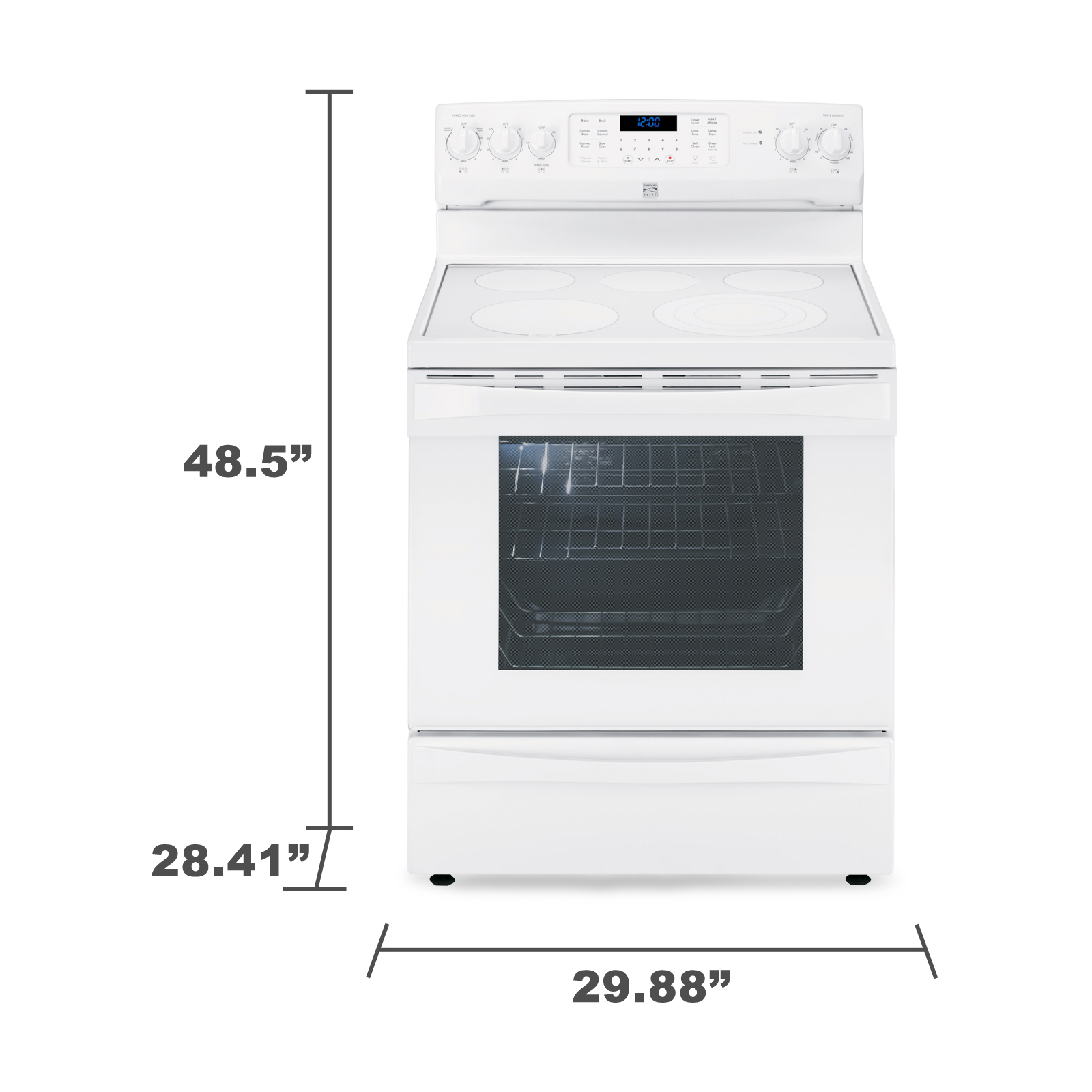 Kenmore Elite 95052 6.1 cu. ft. Electric Range w/ Dual True Convection - White