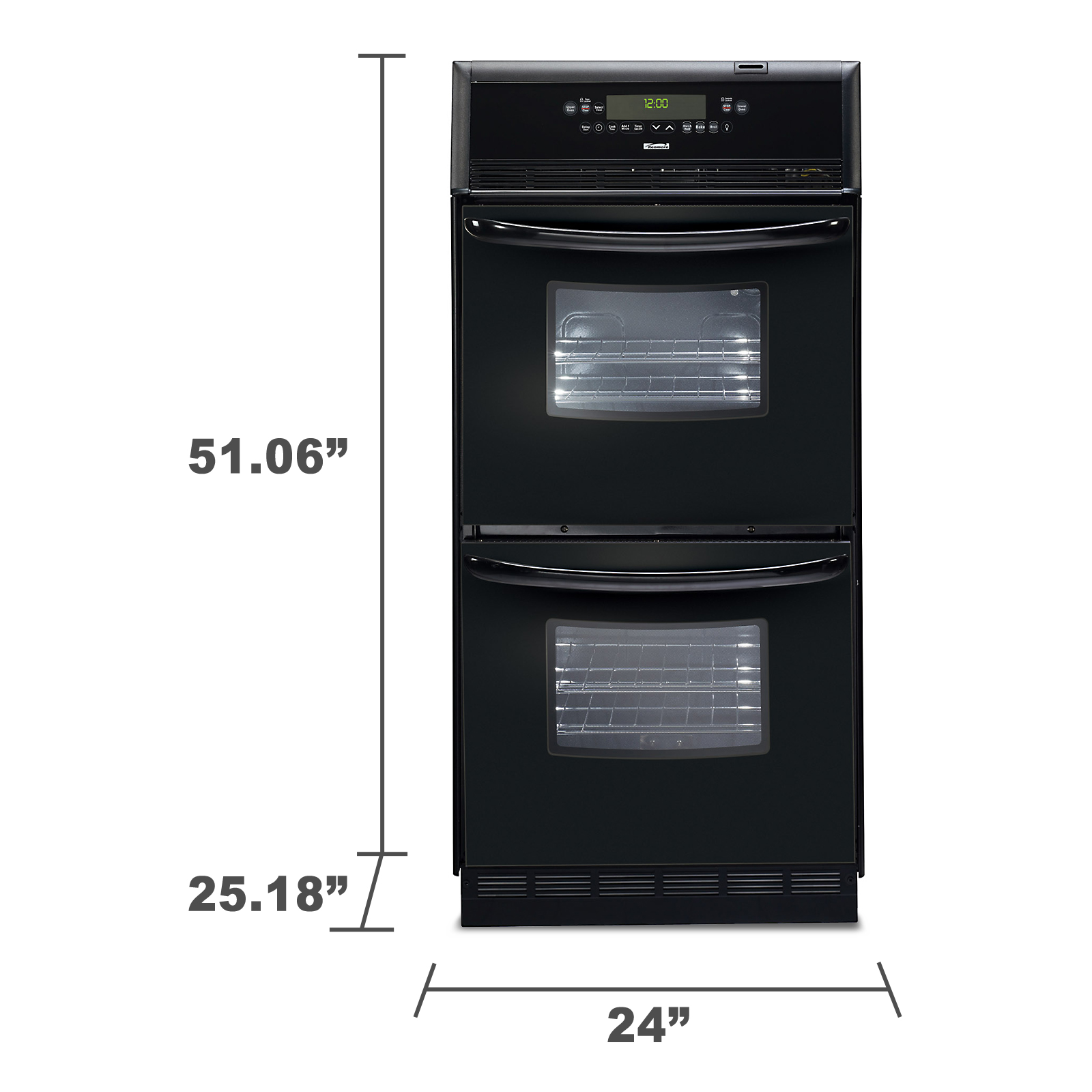 "Kenmore 24"" Manual Clean Double Wall Oven"