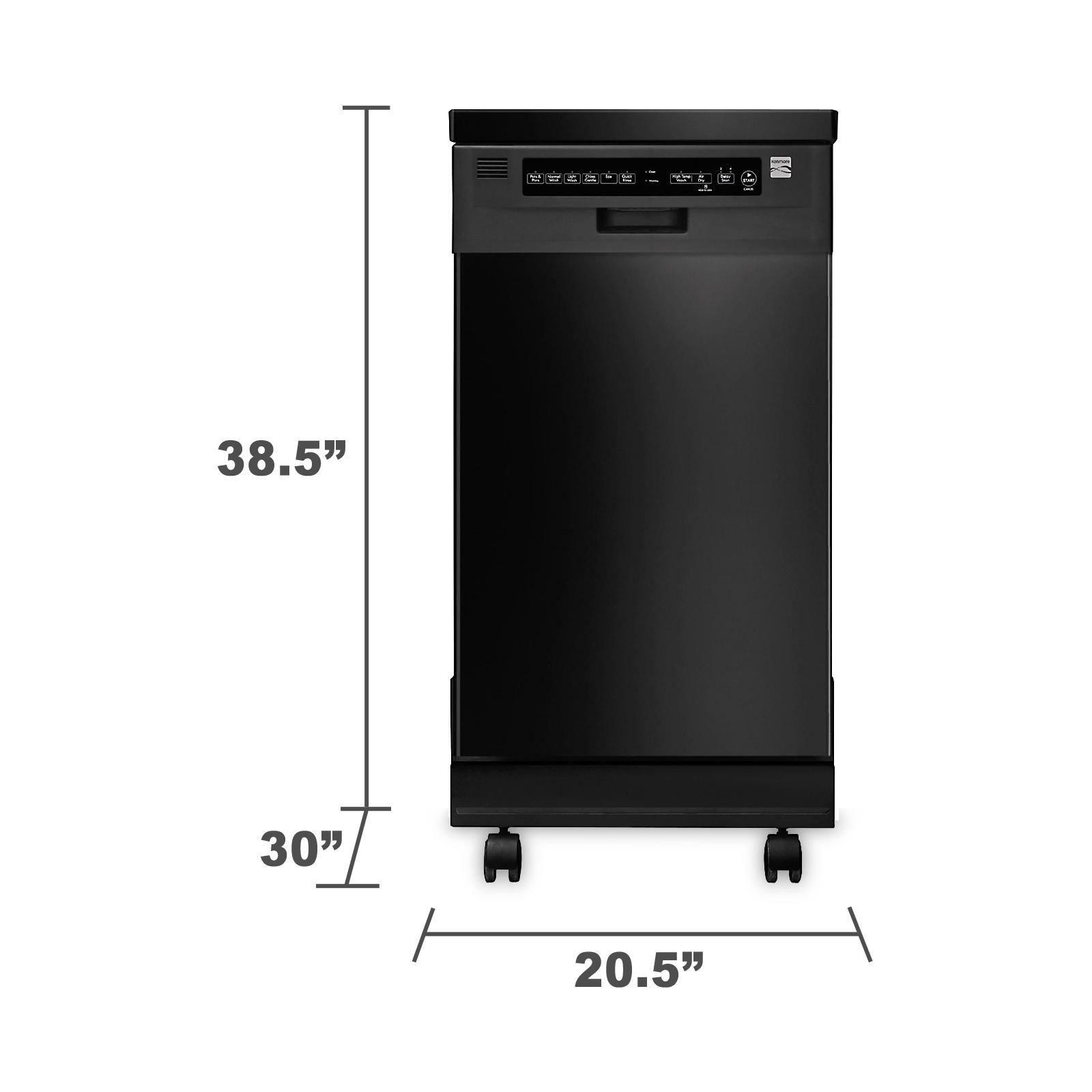 """Kenmore 14659 18"""" Portable Dishwasher - Black"""