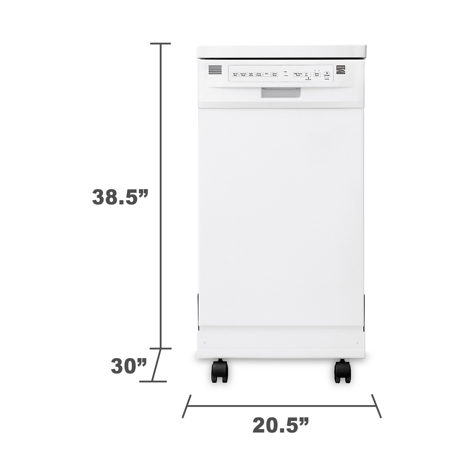 "Kenmore 14652 18"" Portable Dishwasher - White"