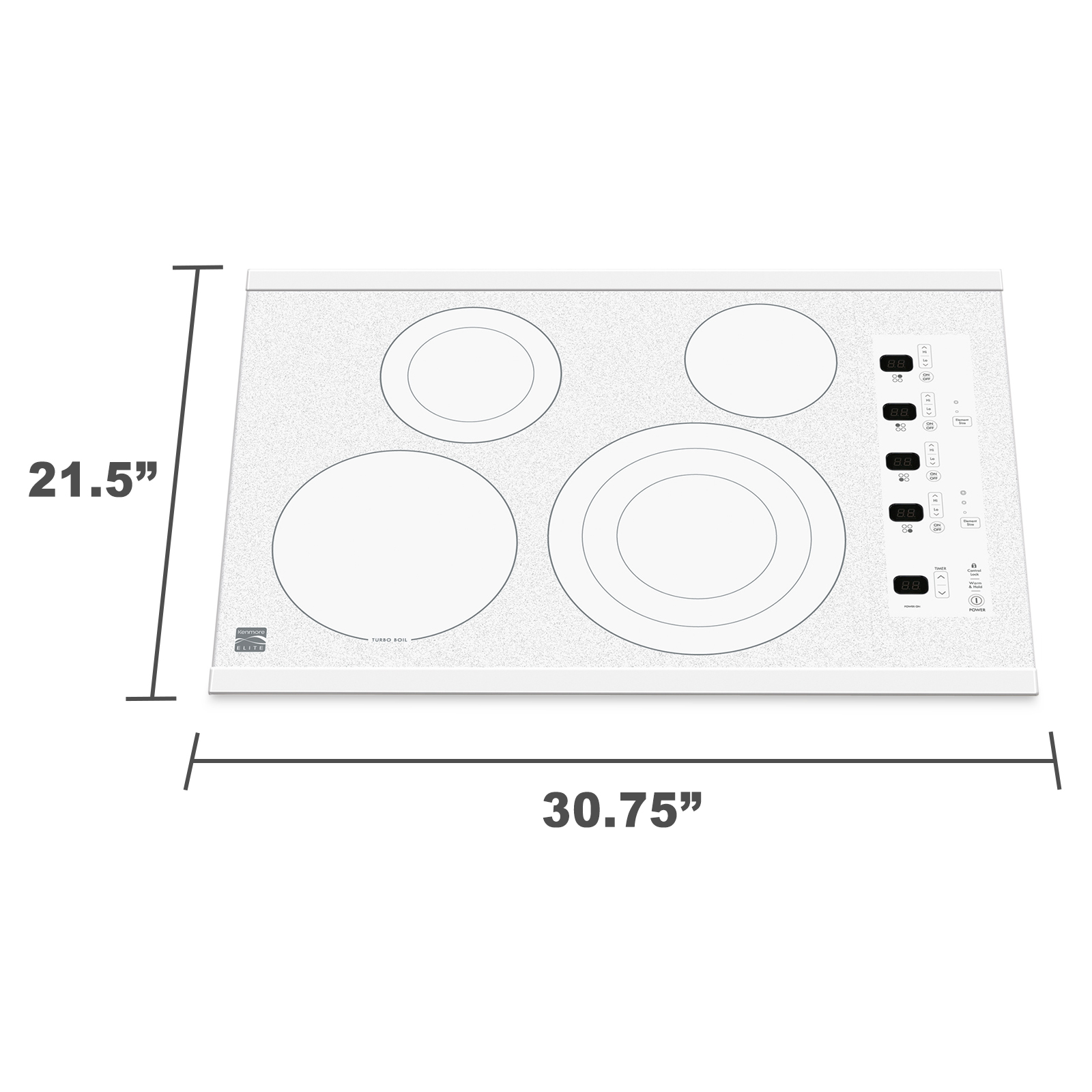 "Kenmore Elite 30"" Electric Cooktop - White"