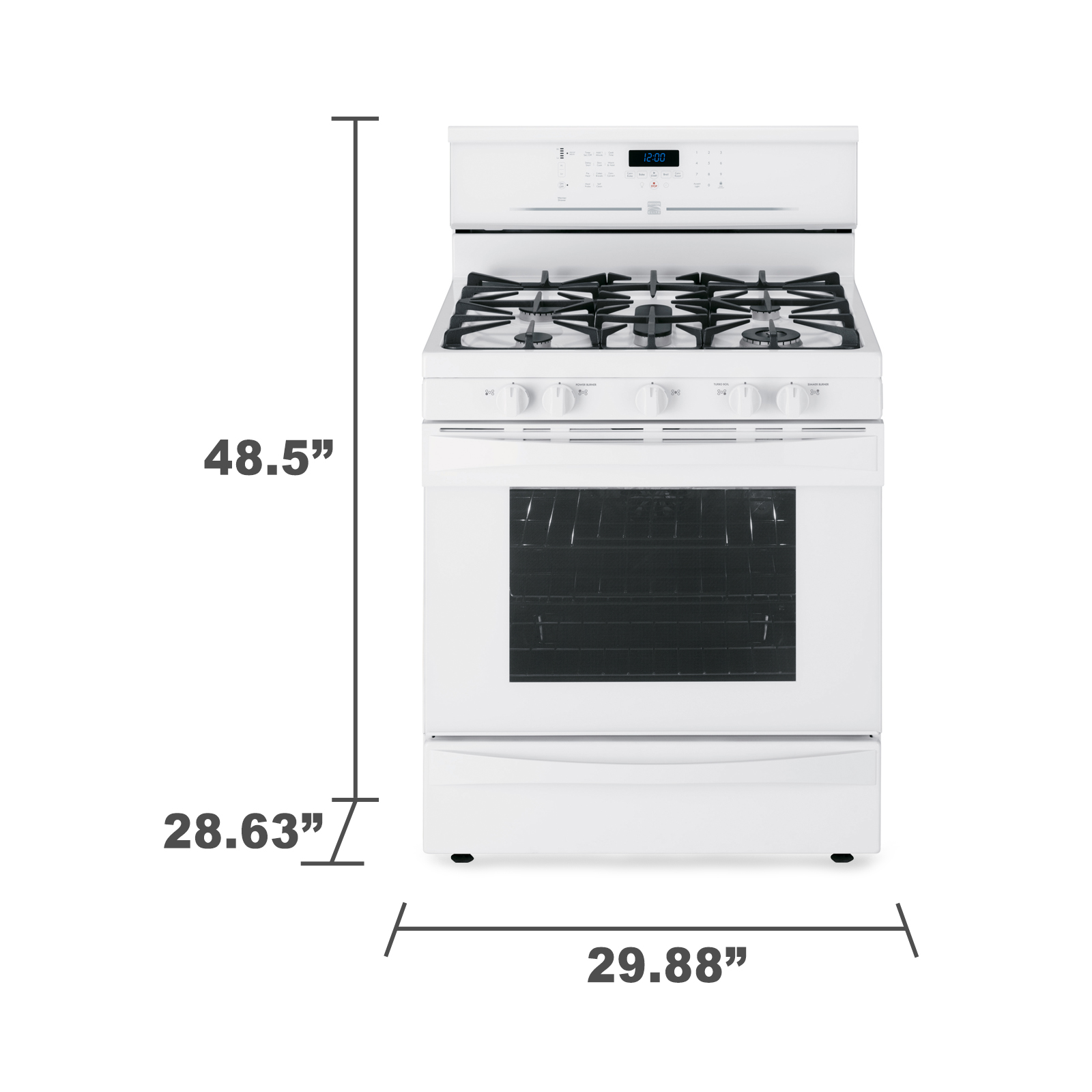 Kenmore Elite 5.6 cu. ft. Gas Range w/ True Convection - White