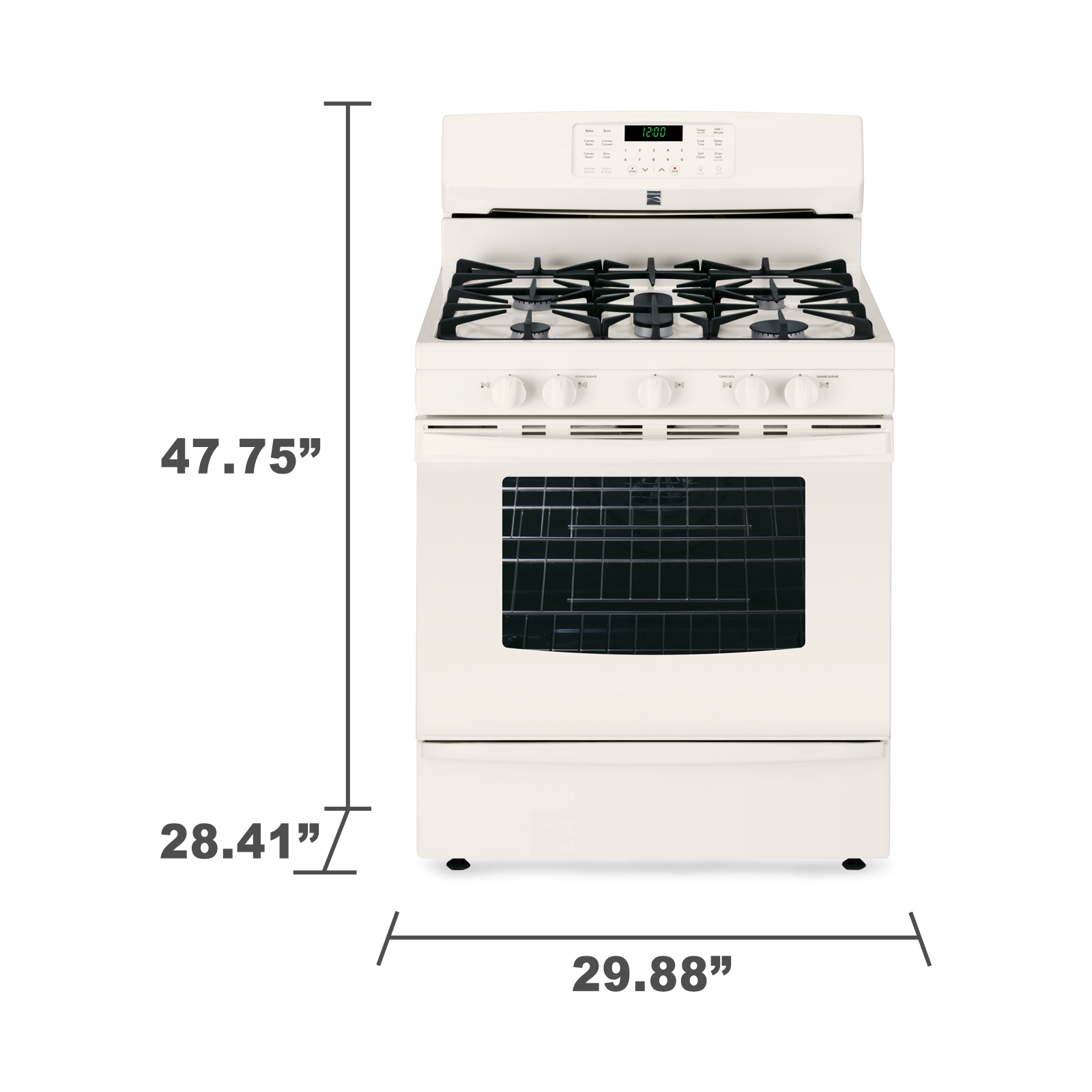 Kenmore 74334 5.6 cu. ft. Gas Range w/ True Convection Oven - Bisque
