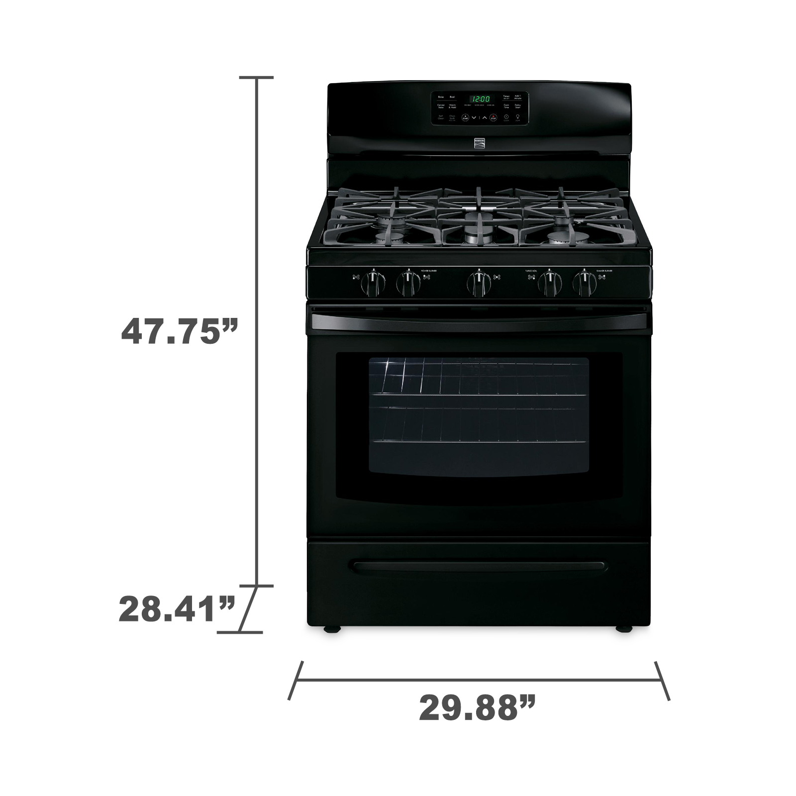 Kenmore 74239 5.0 cu. ft. Freestanding Gas Range w/ Convection - Black