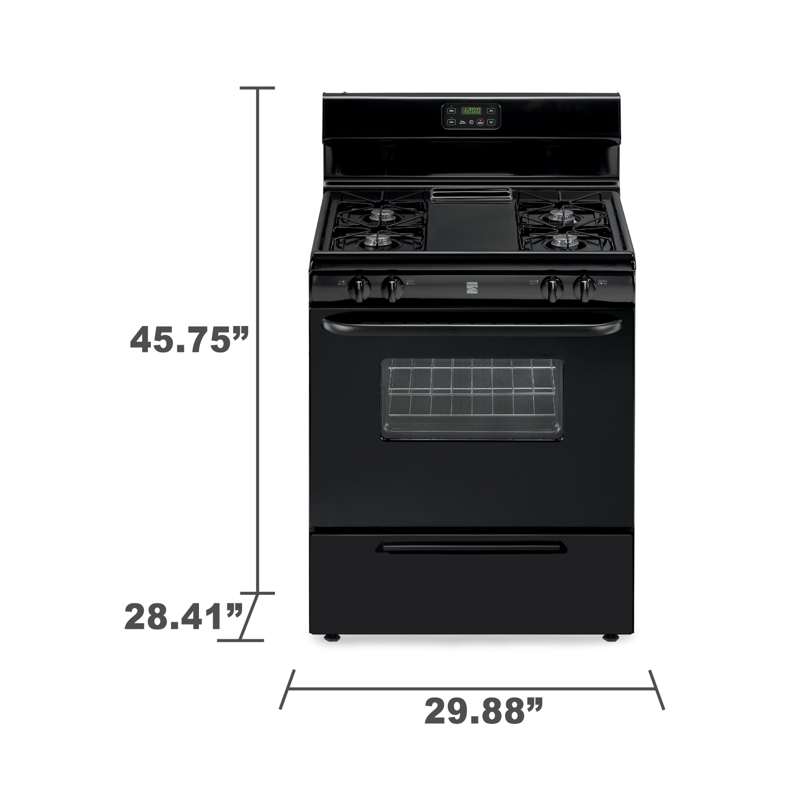 Kenmore 73039 4.2 cu. ft. Freestanding Gas Range w/ Broil & Serve™ Drawer - Black